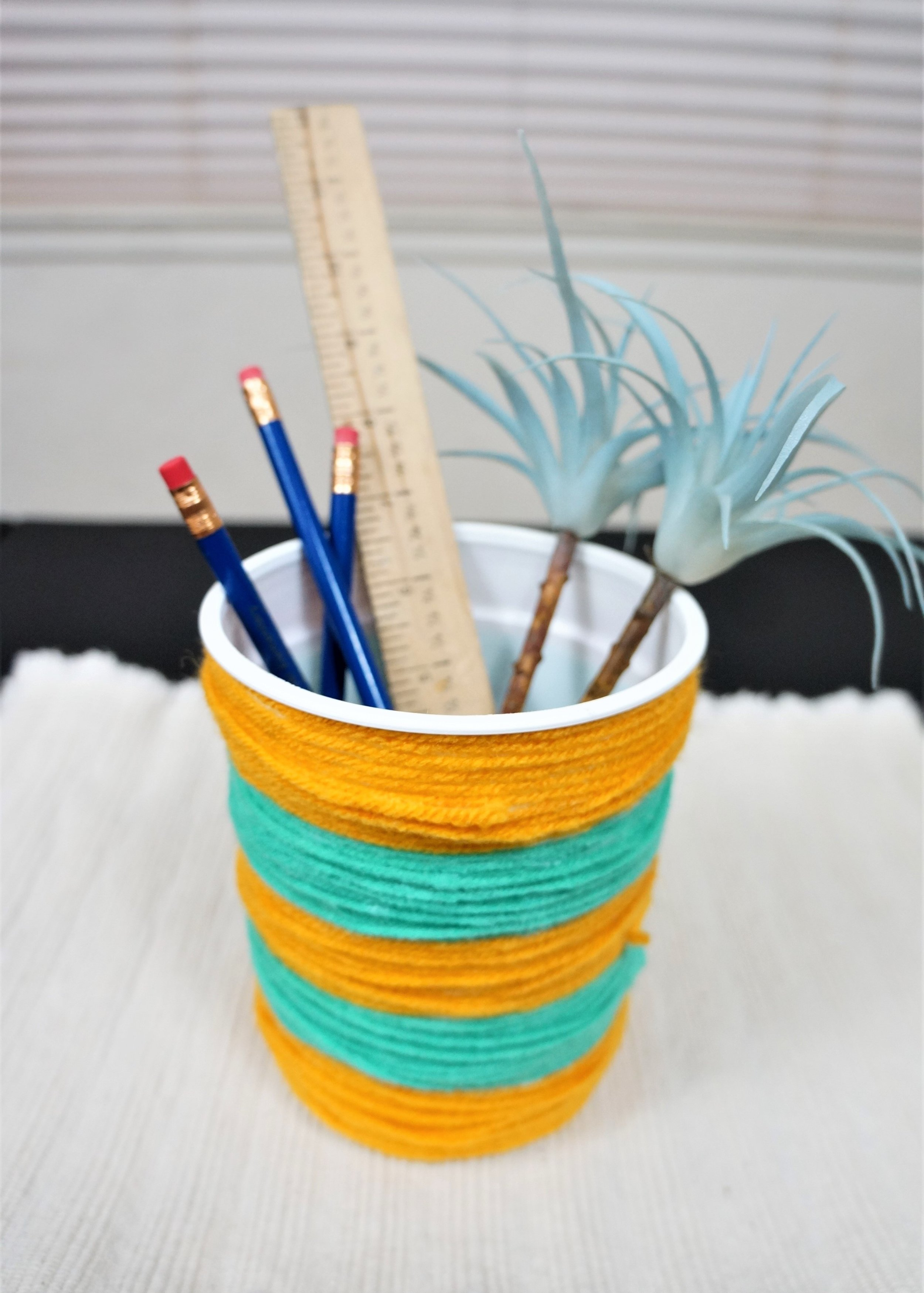 Yarn Wrapped Containers