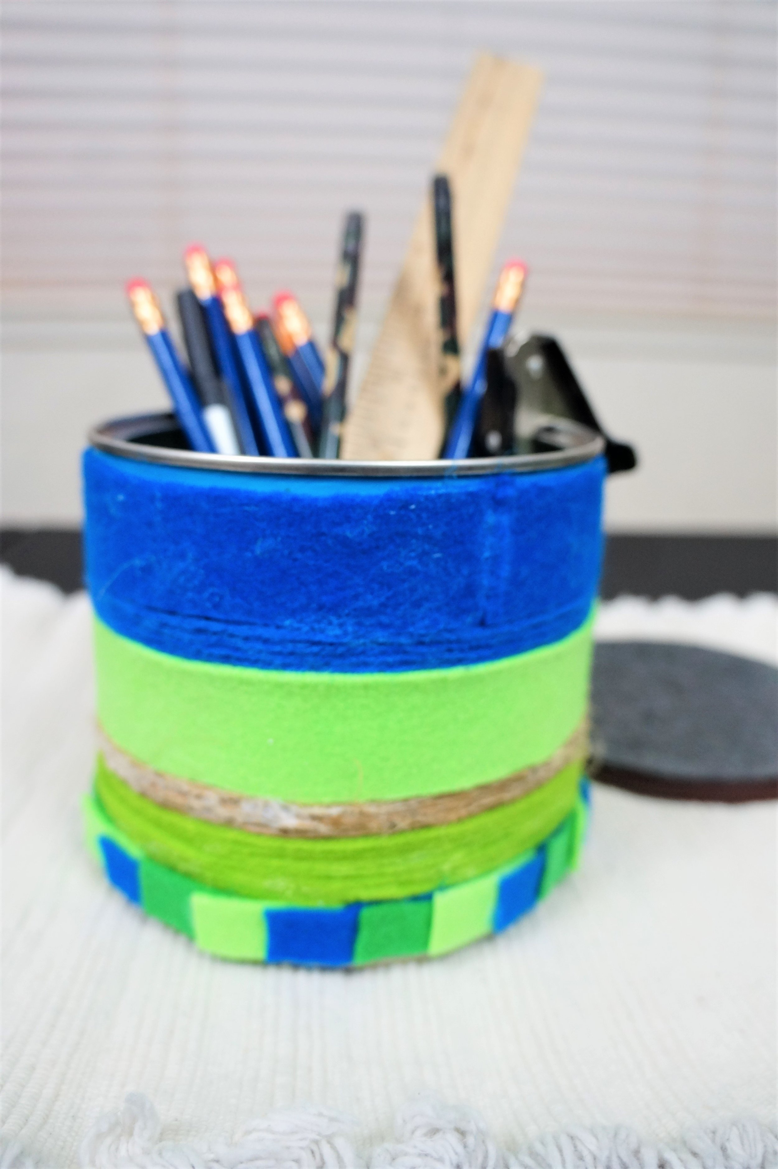 Yarn & Felt Wrapped Containers