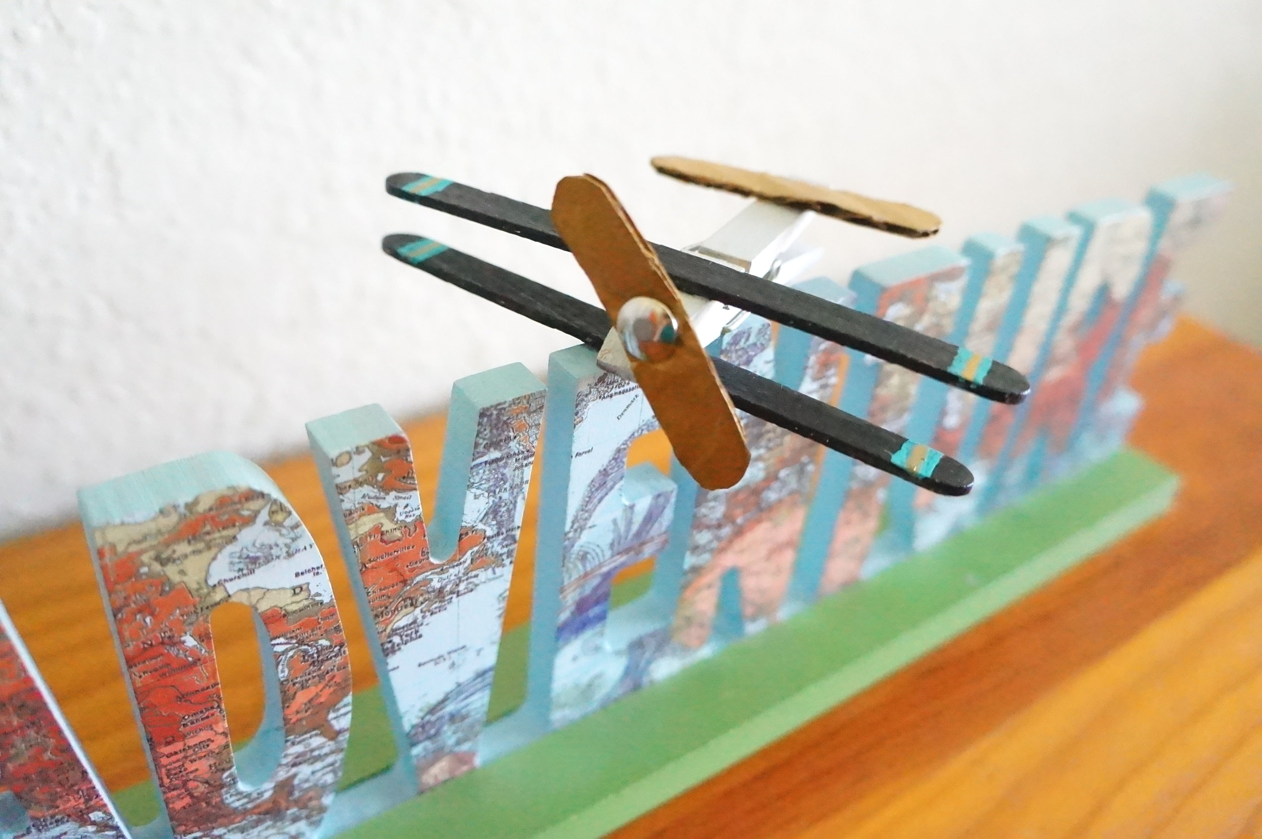Clothespin Airplane with Spinning Propeller