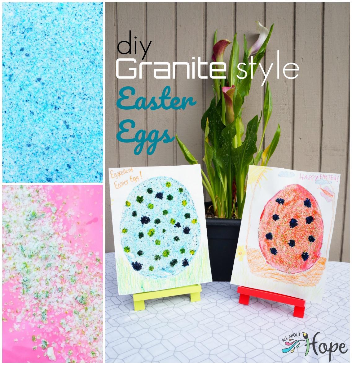 DIY Granite Easter Egg, Paper Easter egg craft, Easter craft, Potato craft, Potato flakes craft, Food dye craft, Food coloring craft