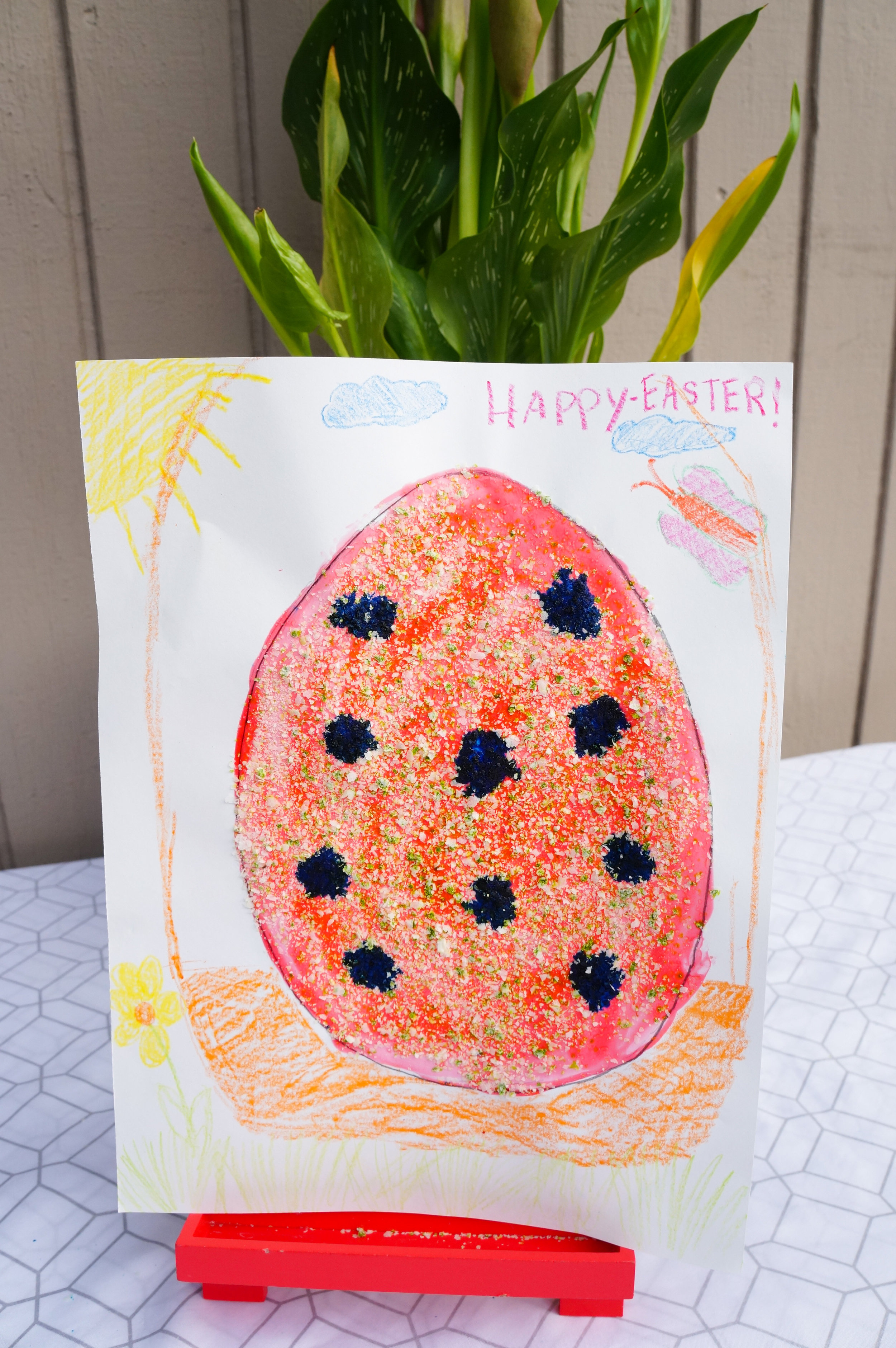 DIY Granite Style Easter Eggs