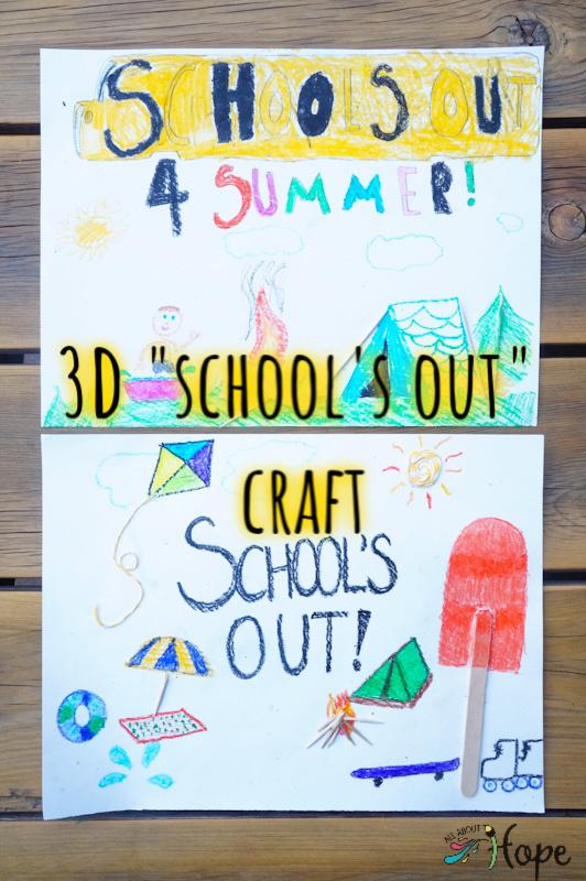 3D Art, 3D Craft, Summer Craft, School's Out Craft, Kid Craft, Tactile Craft