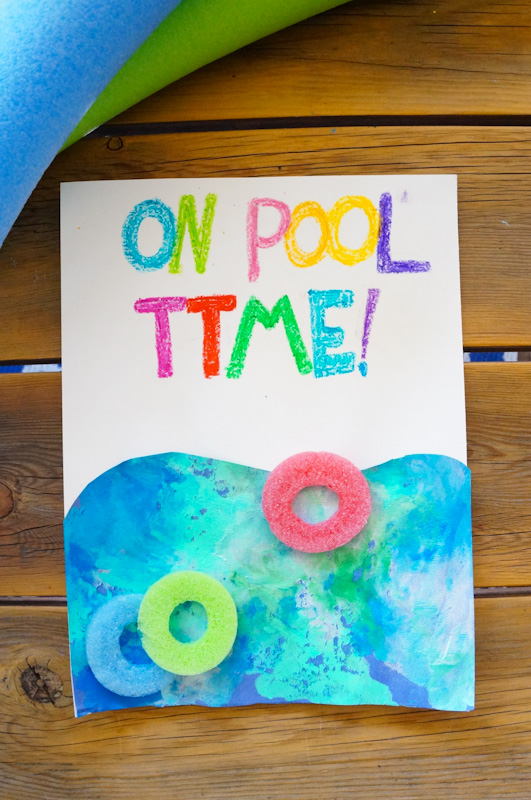 Squishy Paint, Pool Themed Craft, Pool Noodles, Pool Noodle Craft, Finger Painting