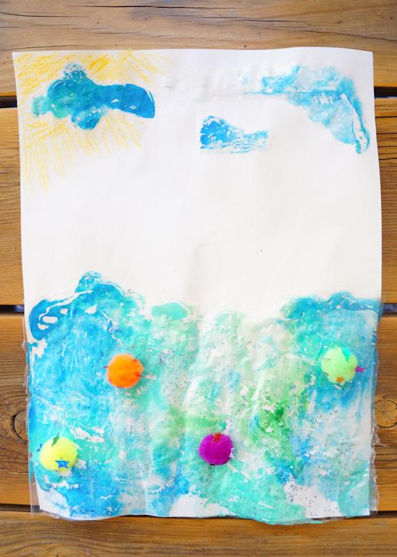 Ocean Craft, Fish Craft, Puffer Fish Craft, Recycled Craft, Ziploc Bag Craft, Pom Pom Craft, Recycled Ziploc Bag