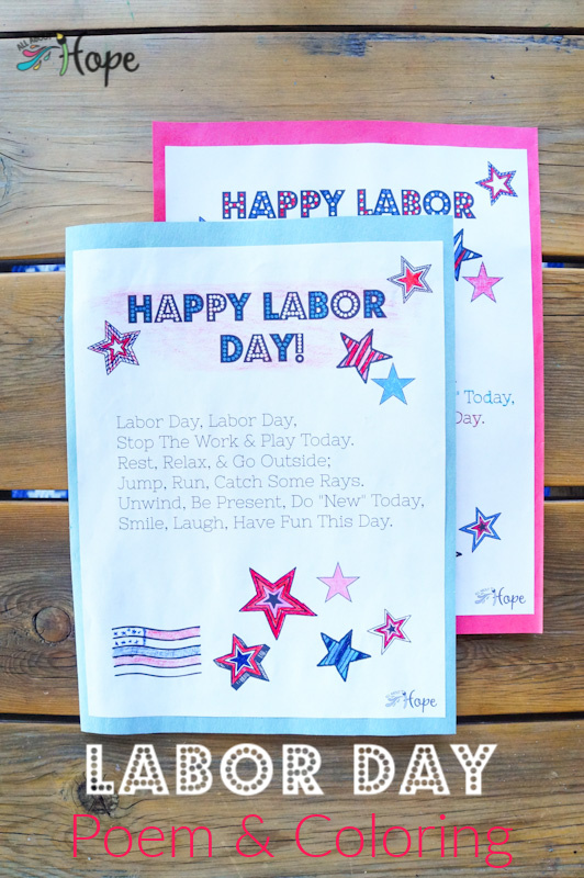 Labor Day, Labor Day Activity, Labor Day Coloring, Poem, Coloring, Labor Day Craft