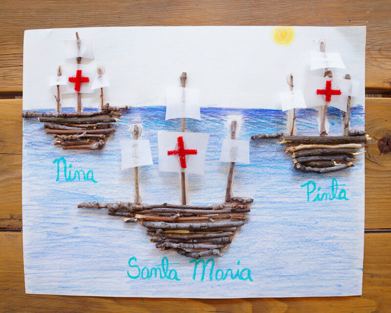 Columbus Day: Twig Boats — All About Hope