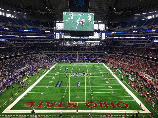 September 2018 - when you own Jerry World! I may have shed a tear or two at my first buckeyes 🏈 game! #ohiostatefootball #gobucks #football #tcu #osu #jerryworld #wewon #bestdamnbandintheland #dreamsdocometrue