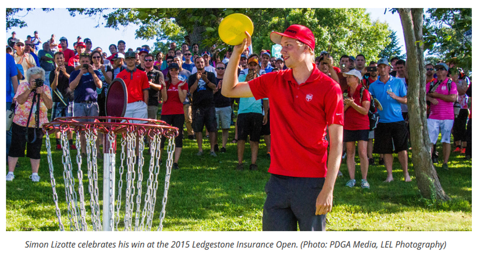 Simon Lizotte Celebrates His Win at 2015 Ledgestone Insurance Open.png