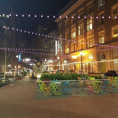 Outdoor lighting is one of our specialties. Read about our Latham Square installation. http://ow.ly/HWg930hzfVR #RGBlights #LED #OutdoorLighting #CommericalLighting