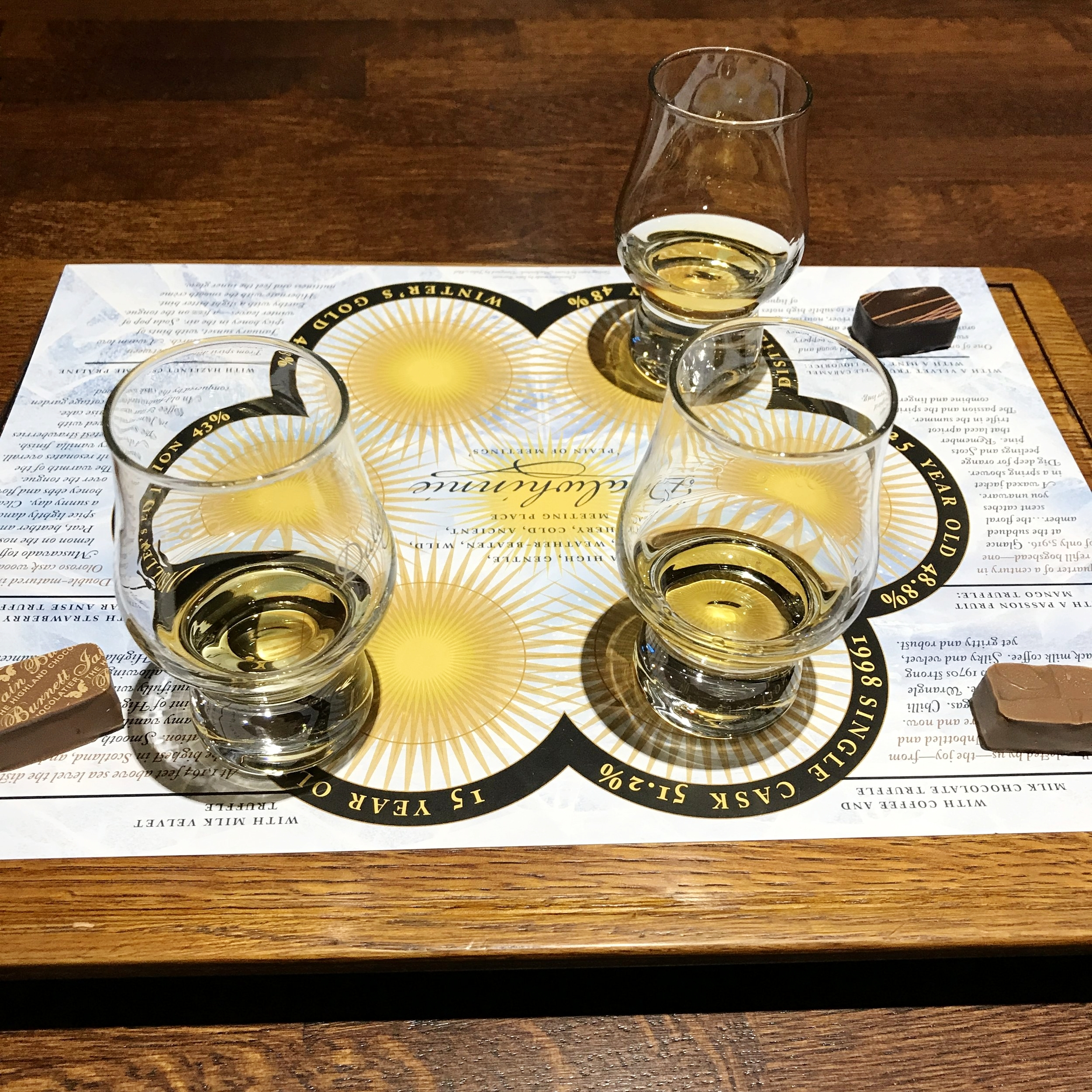 I'm still dreaming about this whisky and chocolate tasting at Dalwhinnie Distillery. Go for the hot chocolate if whisky is not your thing (or do both, like me).
