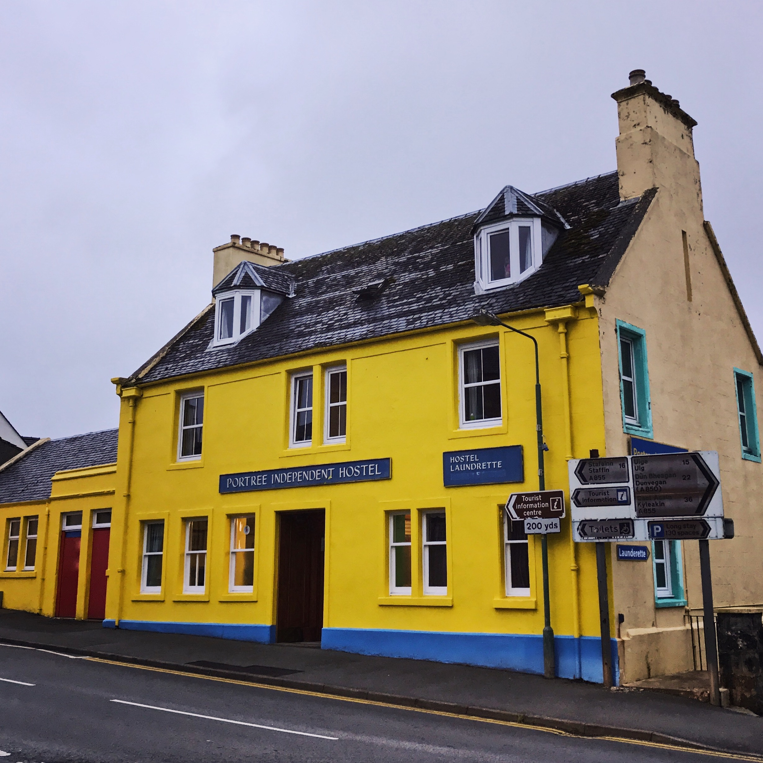 If hostels are your thing, the bright yellow  Portree Independent Hostel is in the heart of everything, and it used to be a post office, which sends the cuteness right off the charts. Book your accommodation as early as you can.