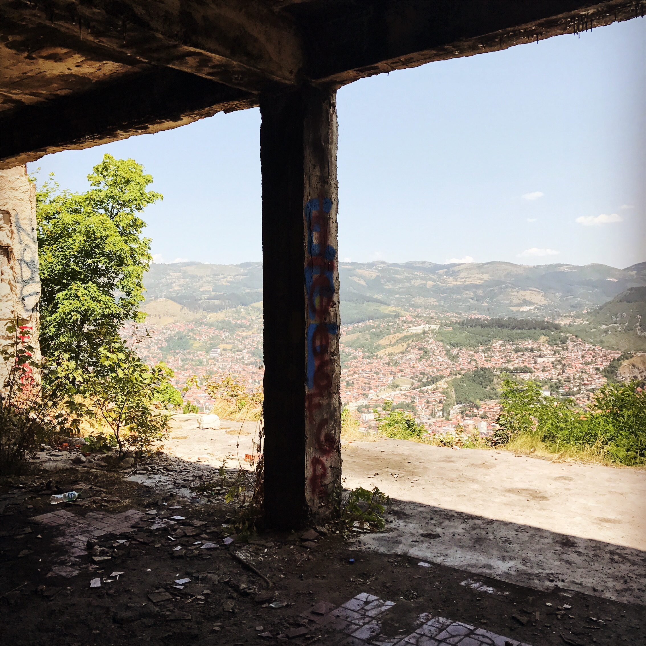 This bombed out restaurant on Trebević Mountain offered diners stunning views of Sarajevo, but our tour guide said what he really misses is the live music. The thought of laughter and folk music and good food contrasted with the rubble here really haunted me.