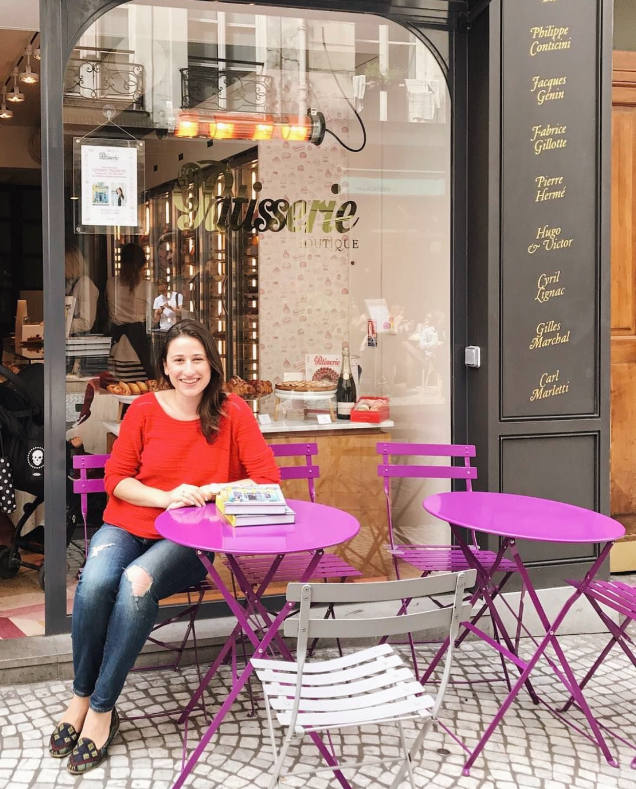Author Lindsey Tramuta at Fou de Patisserie. Learn more about Lindsey on  Instagram  and her blog,  lostincheeseland.com .