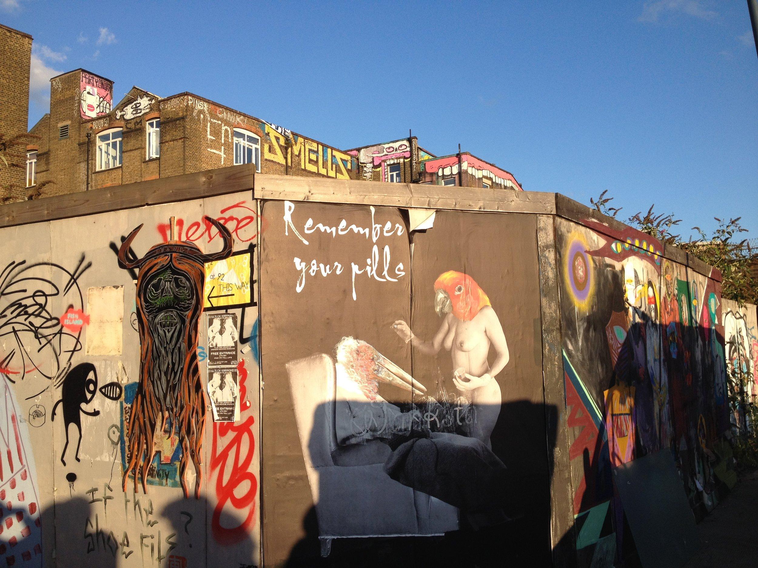 Street art in Hackney Wick.