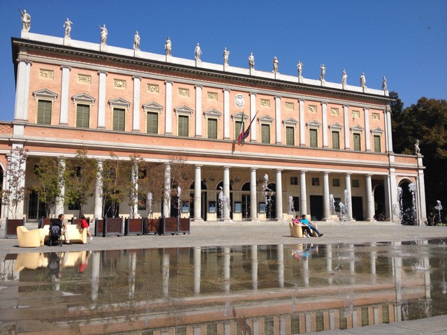 The Teatro Municipale is one of the most beautiful opera houses in the world. This water is actually a modern fountain that splashes up for kids to run around in (they removed a more grand one).