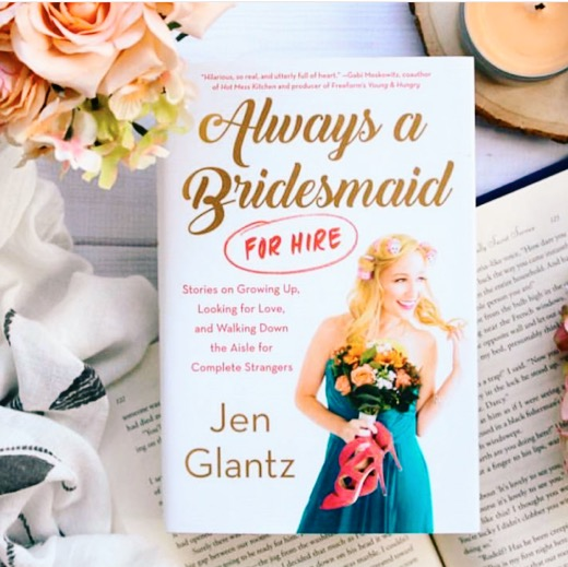 Jen's new memoir,  Always a Bridesmaid for Hire  , talks about Jen's personal dating life (she struck out a lot), starting Bridesmaid for Hire, and what it's like to walk down the aisle for strangers.