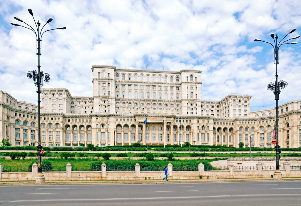 It's bigger than it looks. Dictator Nicolae Ceauşescu had an ego the size of this building. Photo by  Dennis Jarvis .