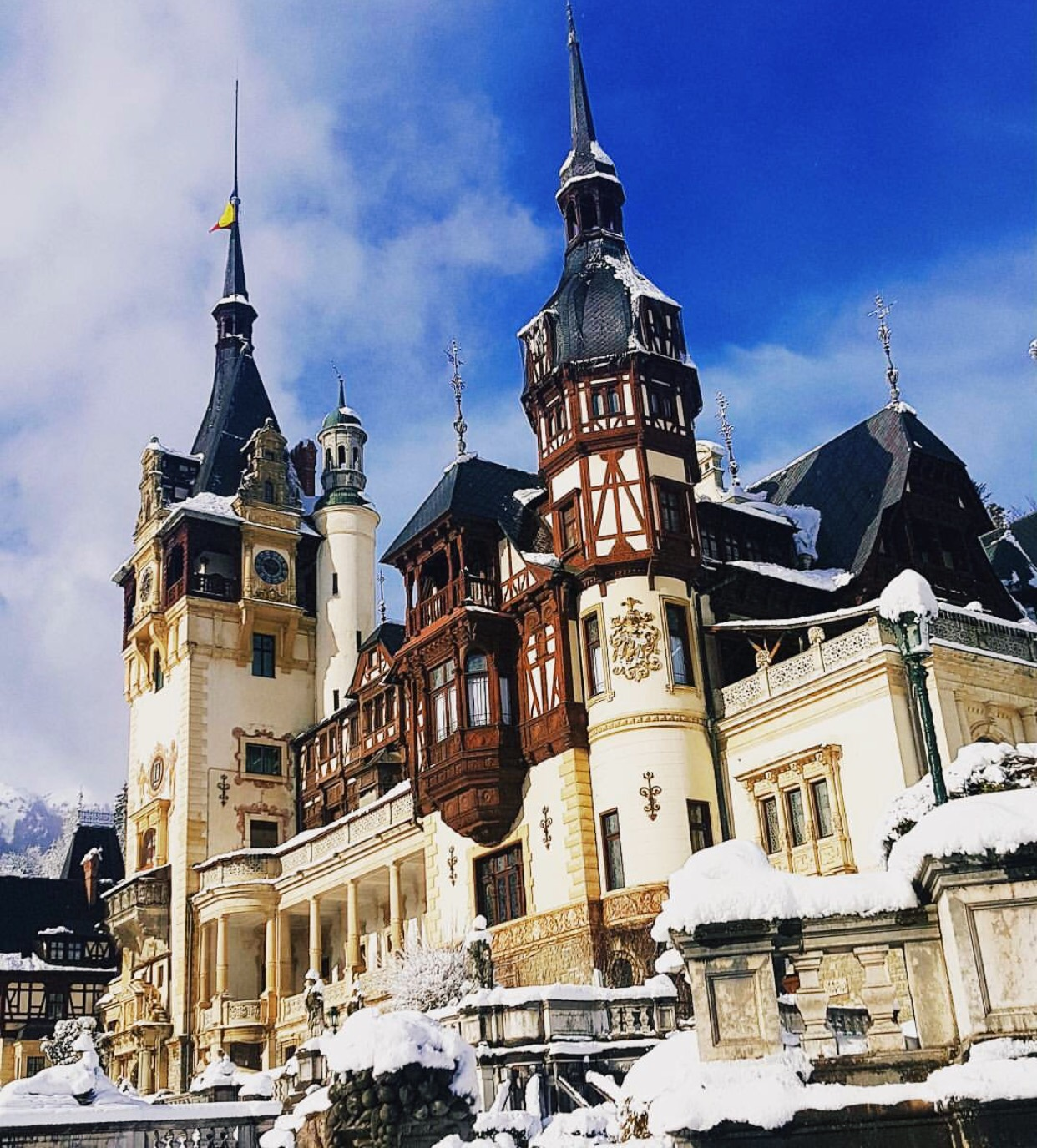 While you're drinking your way through the Prahova Valley, why not stop at Peles Castle? It looks very old, but it's only because  King Carol  (who was head hunted for the job from Germany)wanted something Renaissance style.