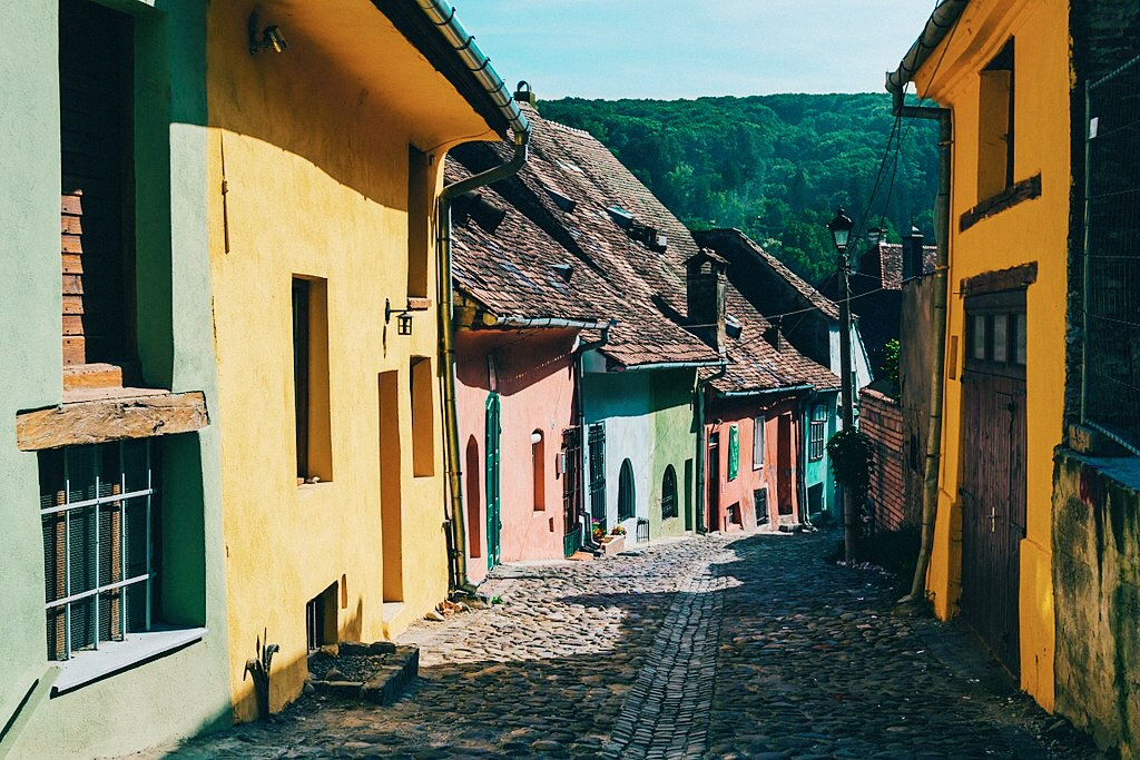 Sighișoara, a medieval fortified city and UNESCO World Heritage Site.