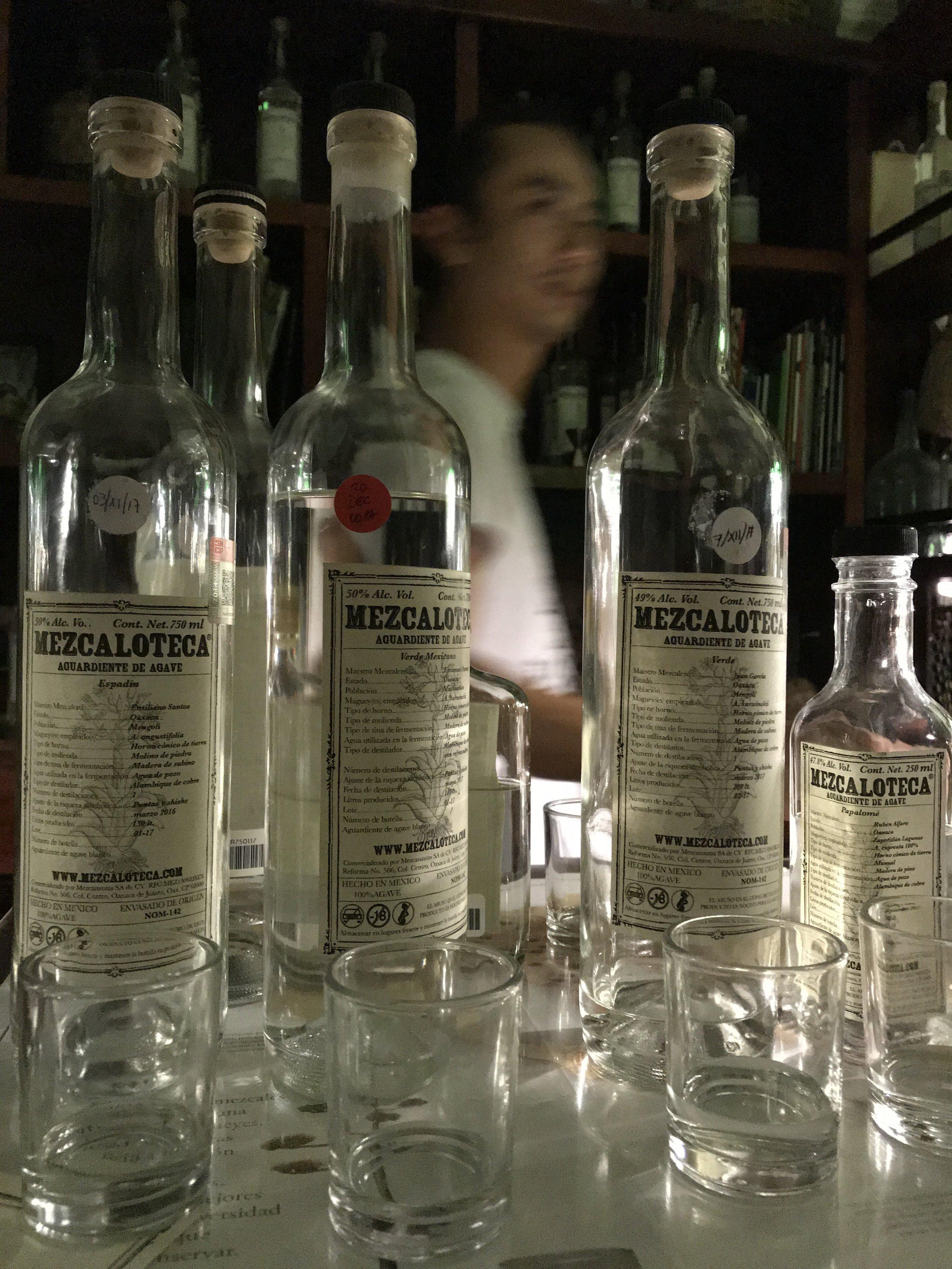 It's all business at La Mezcaloteca.
