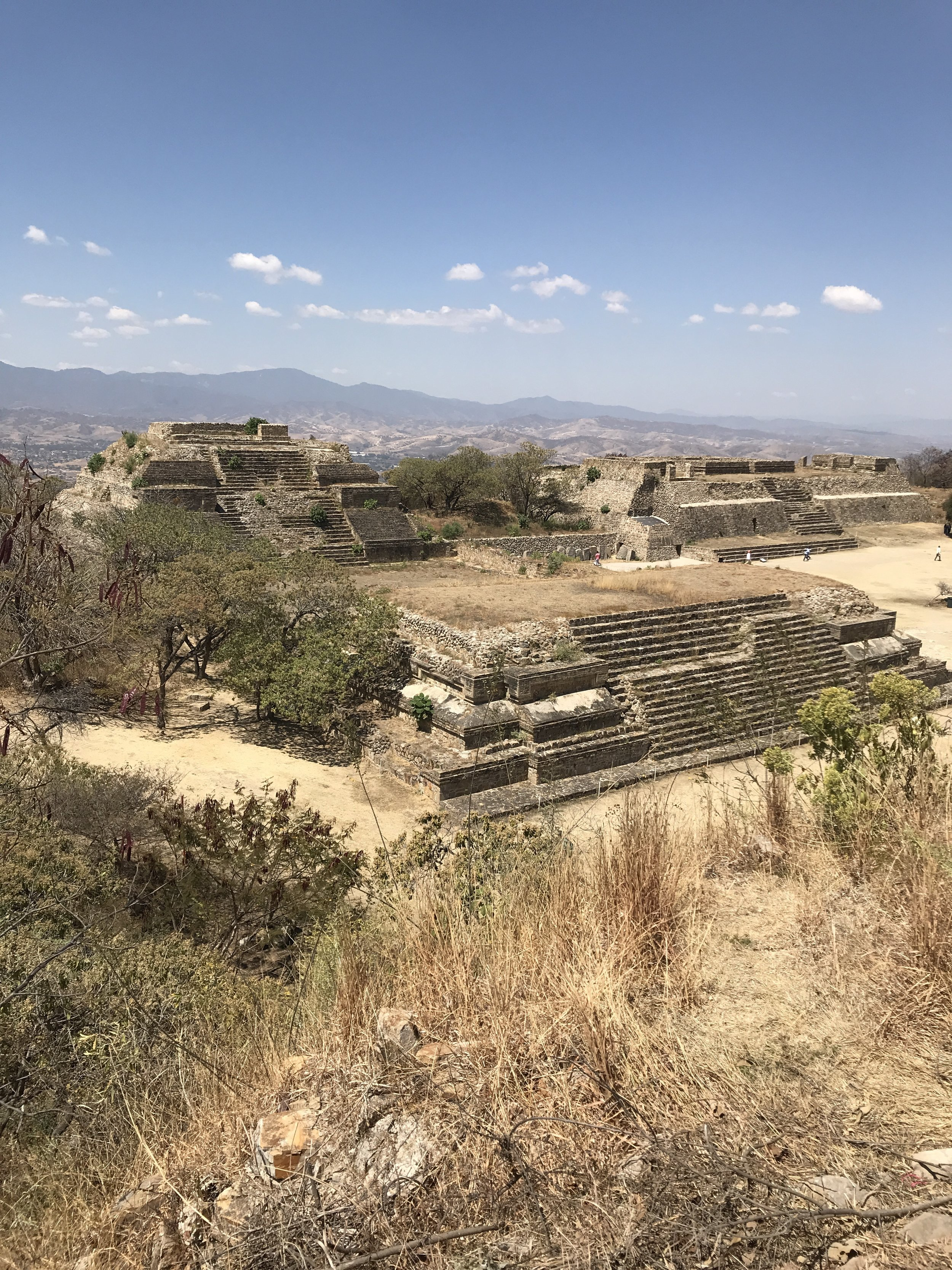"""Among other criteria that make Monte Albán     a World Heritage property  , UNESCO says, """"Monte Albán is an outstanding example of a pre-Columbian ceremonial centre in the middle zone of present-day Mexico, which was subjected to influences from the north — first from Teotihuacan, later the Aztecs — and from the south, the Maya. With its ball game court, magnificent temples, tombs and bas-reliefs with hieroglyphic inscriptions, Monte Albán bears unique testimony to the successive civilizations occupying the region during the pre-Classic and Classic periods."""""""