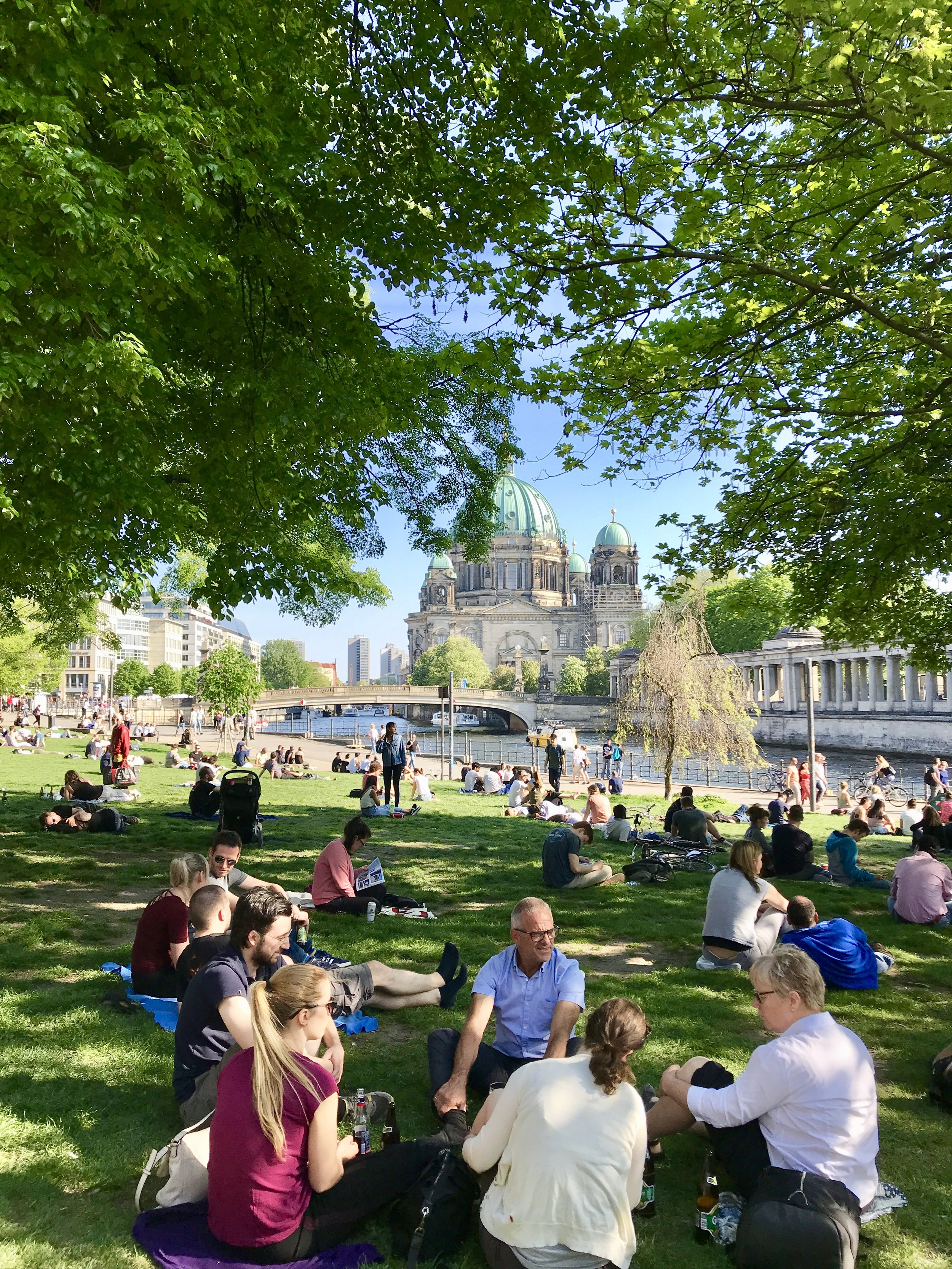 When you're done exploring Museum Island, come chill in James Simon Park.