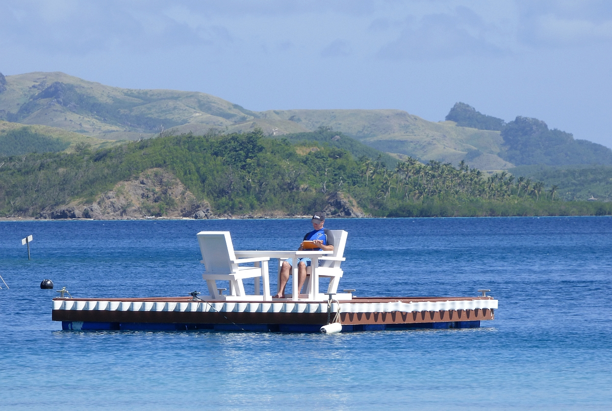 But really, shouldn't this be your office? Photo of Tim Leffel, author of  A Better Life for Half the Price .