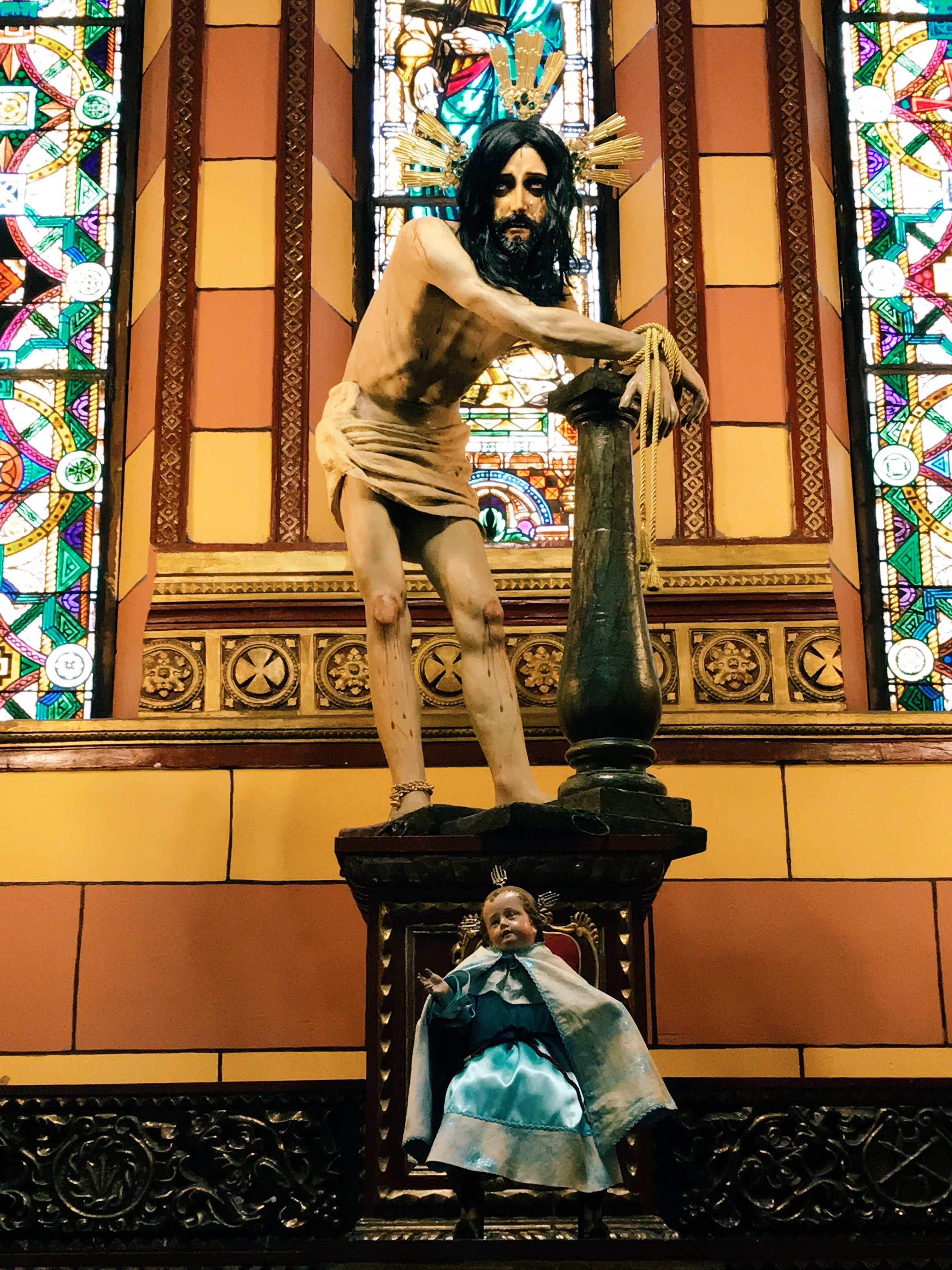 I've never seen Jesus look so tortured as I did in Colombia.