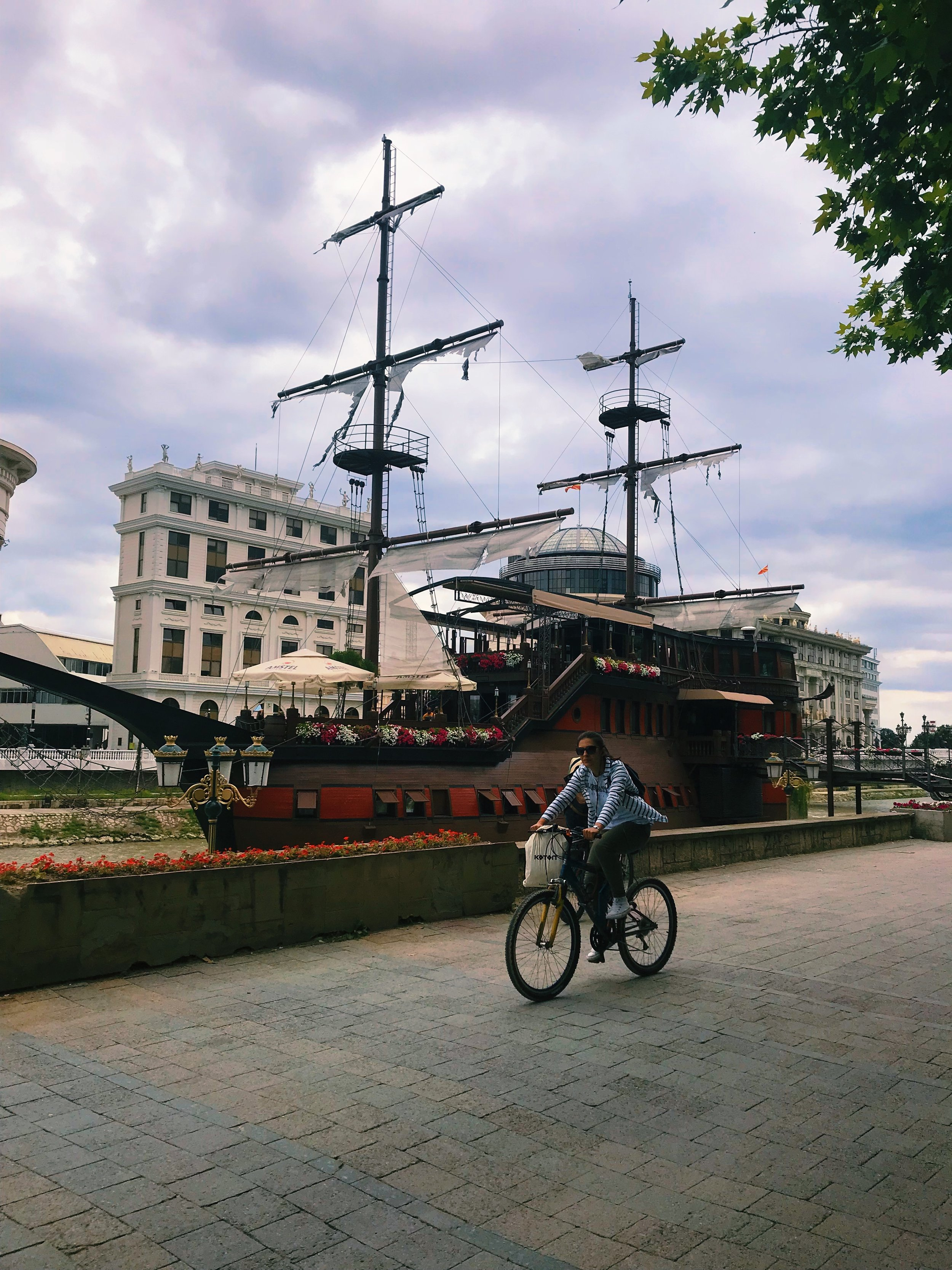 The government commissioned several random ships as part of its Skopje 2014 redevelopment project.