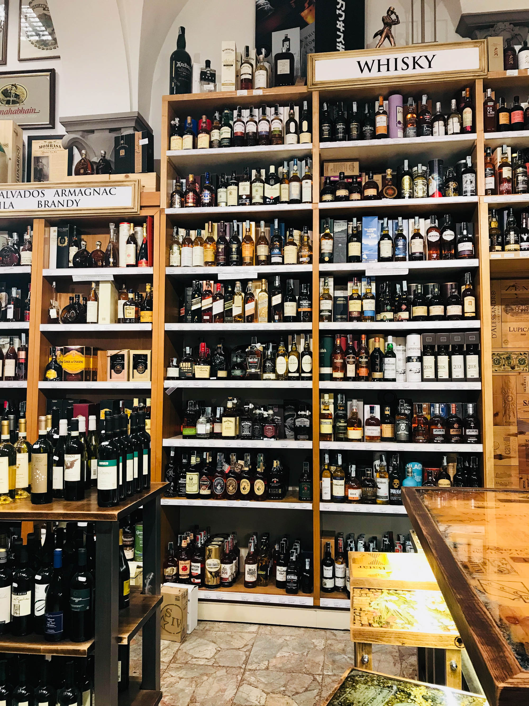 """Enoteca Alessi  opened in 1952. When I complimented its founder, Giorgio, on his shop, he said, """"This place is too big."""""""