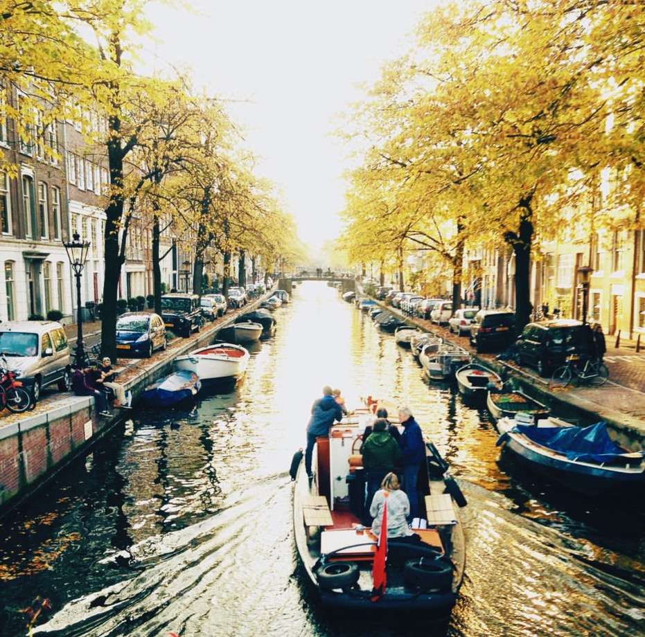 """Canal tours are """"a spectacular way to see the city,"""" Audrey says. """"It's always a blast no matter who's on that boat."""" All photos in this article come from  Audrey ."""