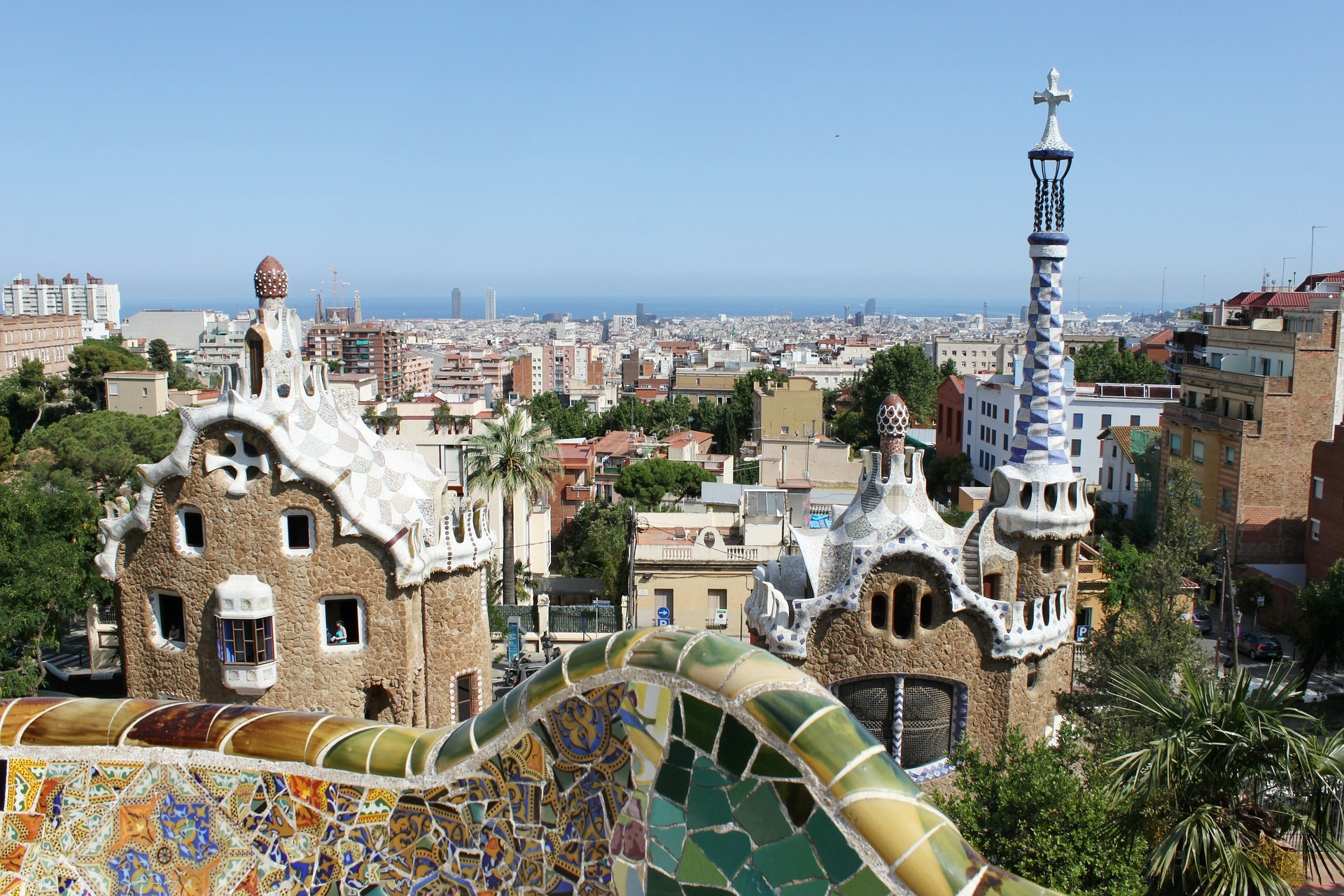 Gaudi designed the Park Güell, perhaps Barcelona's most iconic postcard image.
