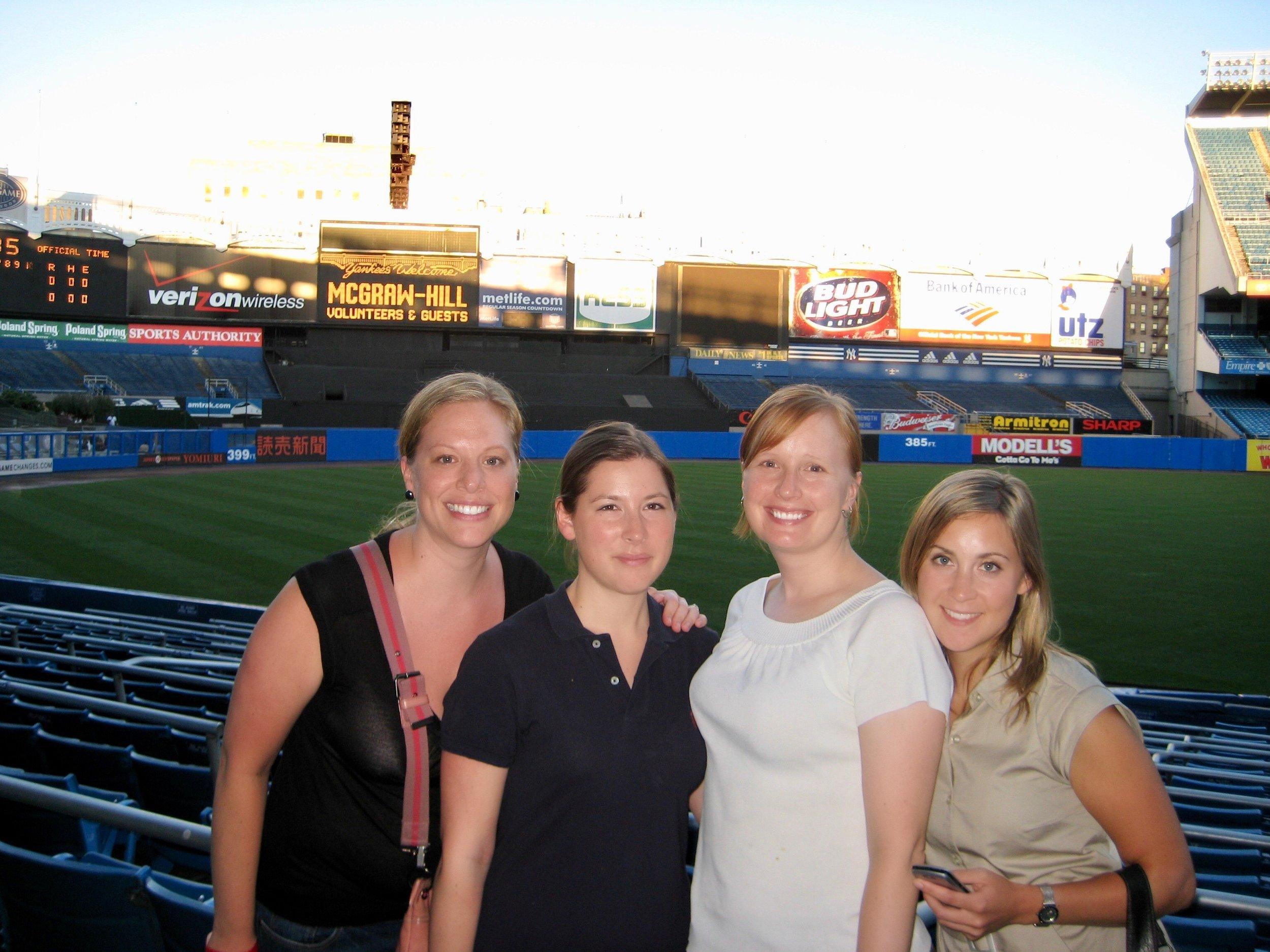 Employee evening out at Yankee Stadium.