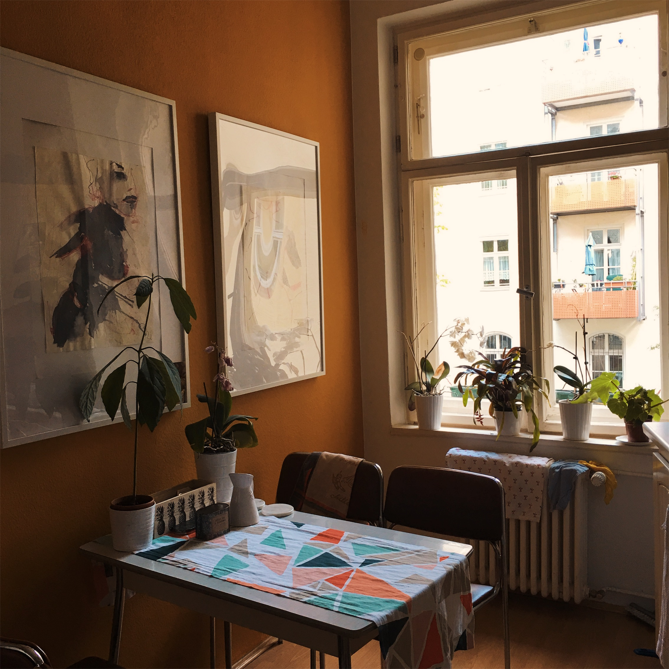 Here's what a typical German apartment looks like. Every one I've been in has been incredibly hipster and a little bit cold… Fun fact: German apartments usually don't come furnished. Like, you have to bring your own kitchen sink and light bulbs, so don't forget to budget this in if you move here.