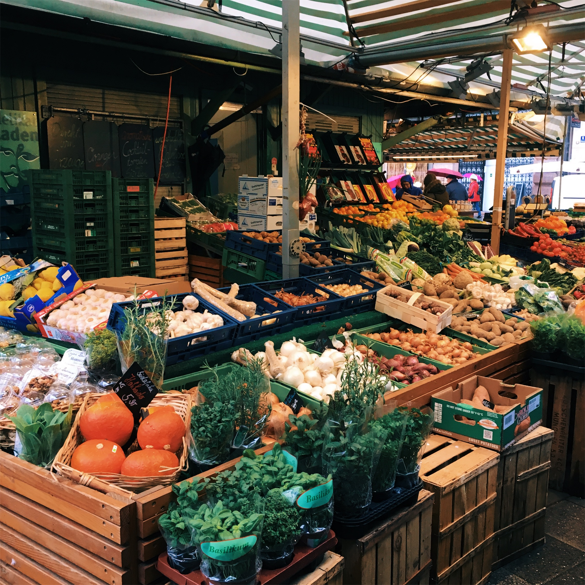 """""""The wonderful thing about the food market, the  Viktualienmarkt , is that you can go around the market and pick your own food and sit in the beer garden and have a beer with it,"""" Maxine says."""