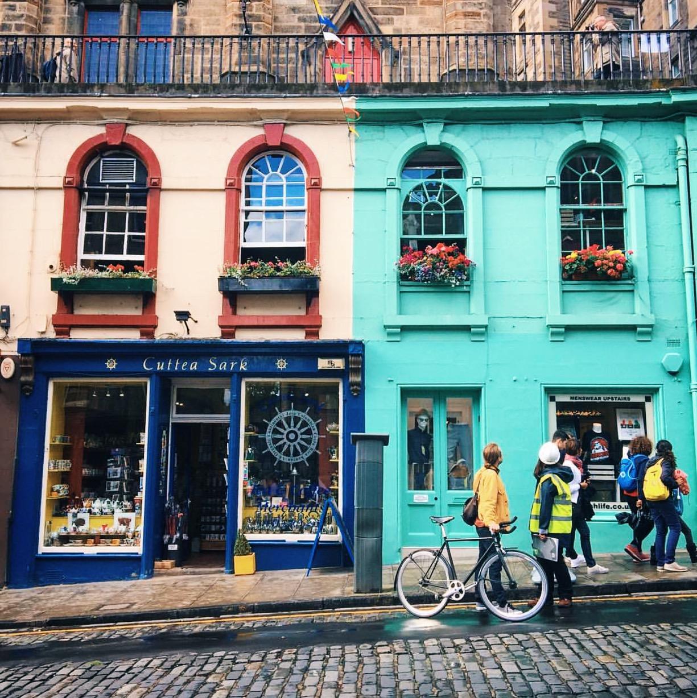 Bow Bar. One of Gemma's favorite streets in Edinburgh, Scotland.