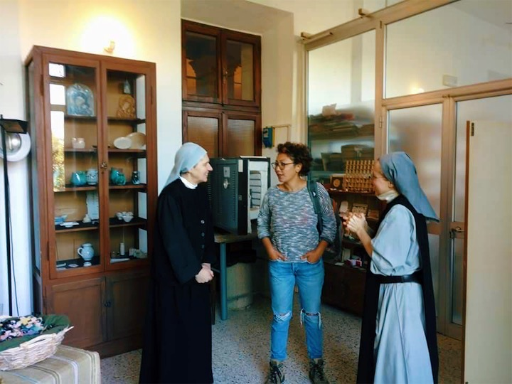 """So far, Daniel and Alinne's favorite Workaway has been at San Luca Monastery in Fabriano, Italy. """"We never imagined it that nuns can be so open minded and so curious about your life."""""""