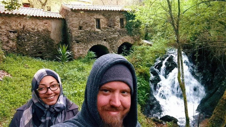 Helping turn an old mill into a hostel in Portugal.