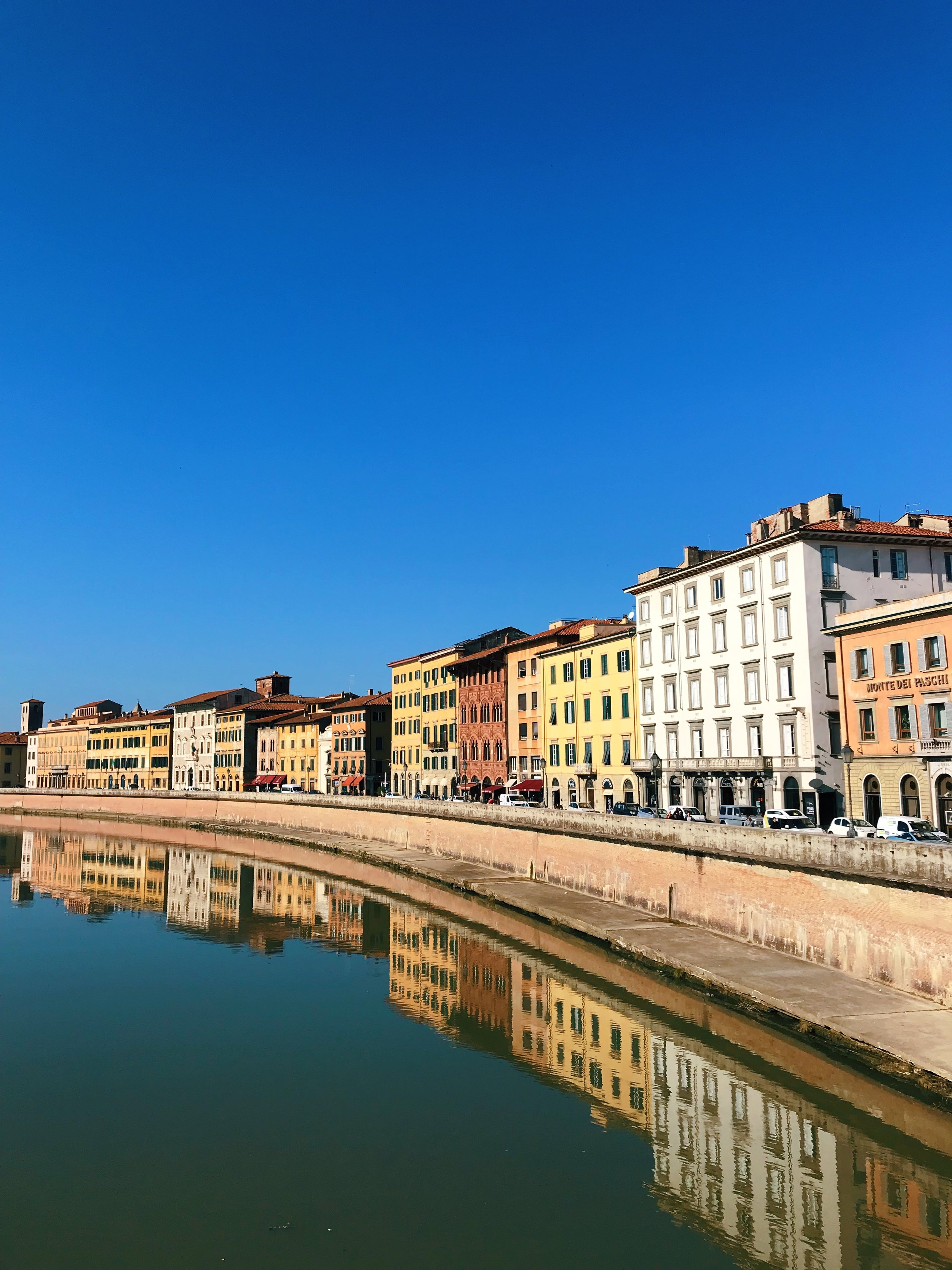 Did you think this was Florence for a sec? Nope! Just tranquil Pisa. Well, usually tranquil. This is a left-leaning university town, and people like a good protest.