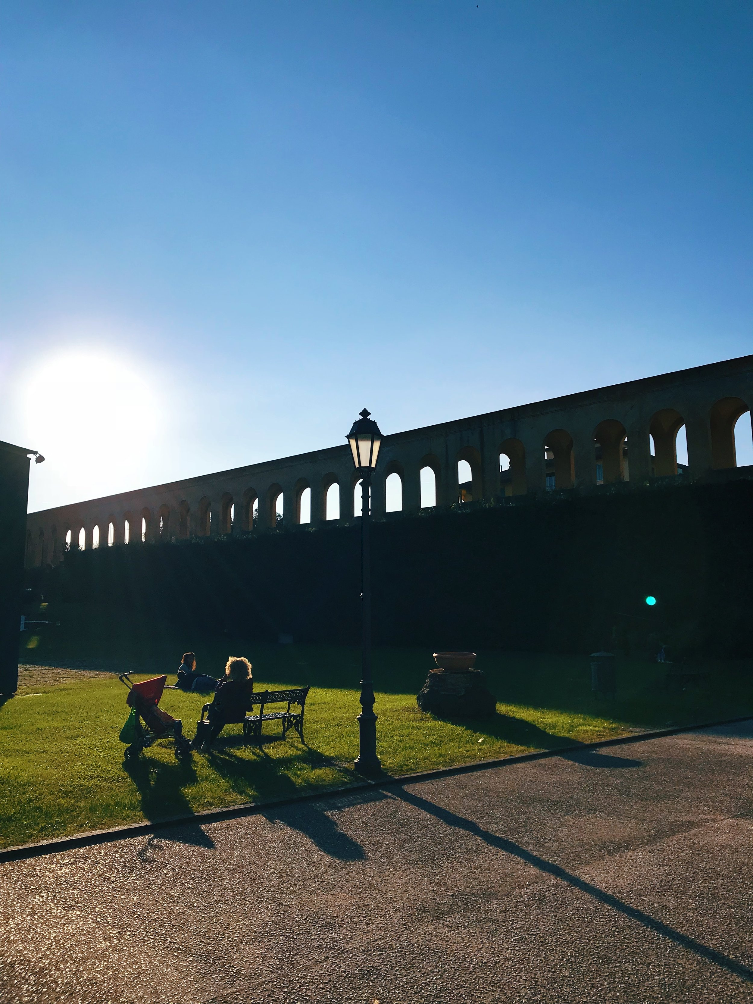 Giardino Scotto   (Scotto's Garden), located inside an old fortress. In the summer, you'll find outdoor films and other activities happening here.