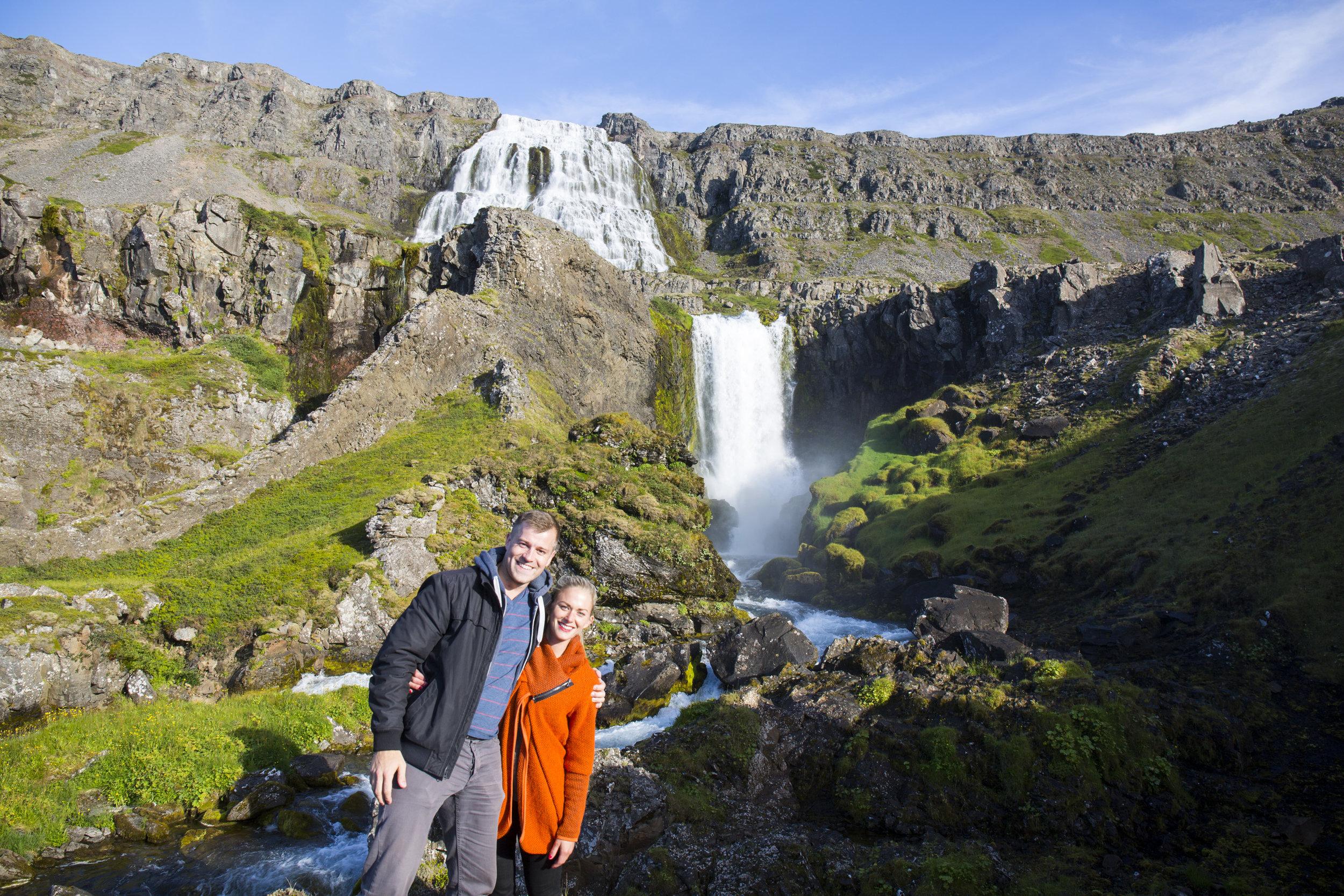 Kaelene and her viking in the Westfjords. Photo by  Kaelene .