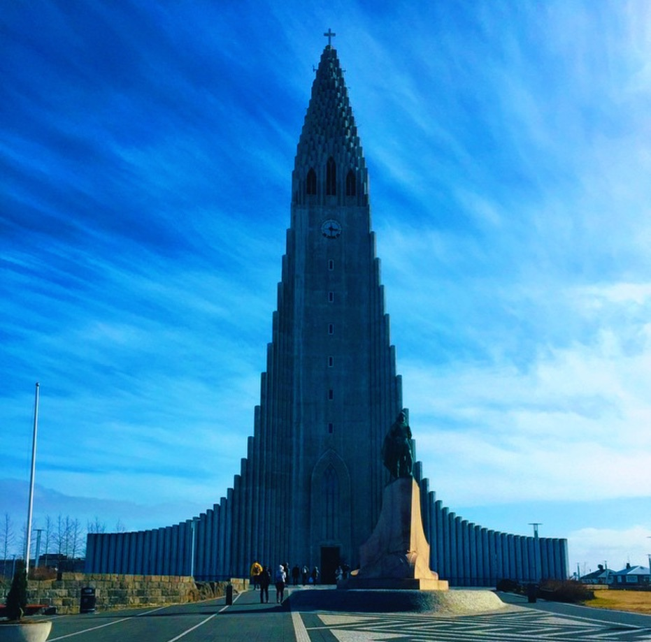 Hallgrimskirkja.  This church is the tallest building in Reykjavik  and offers ocean and city views. Photo by  Kaelene .
