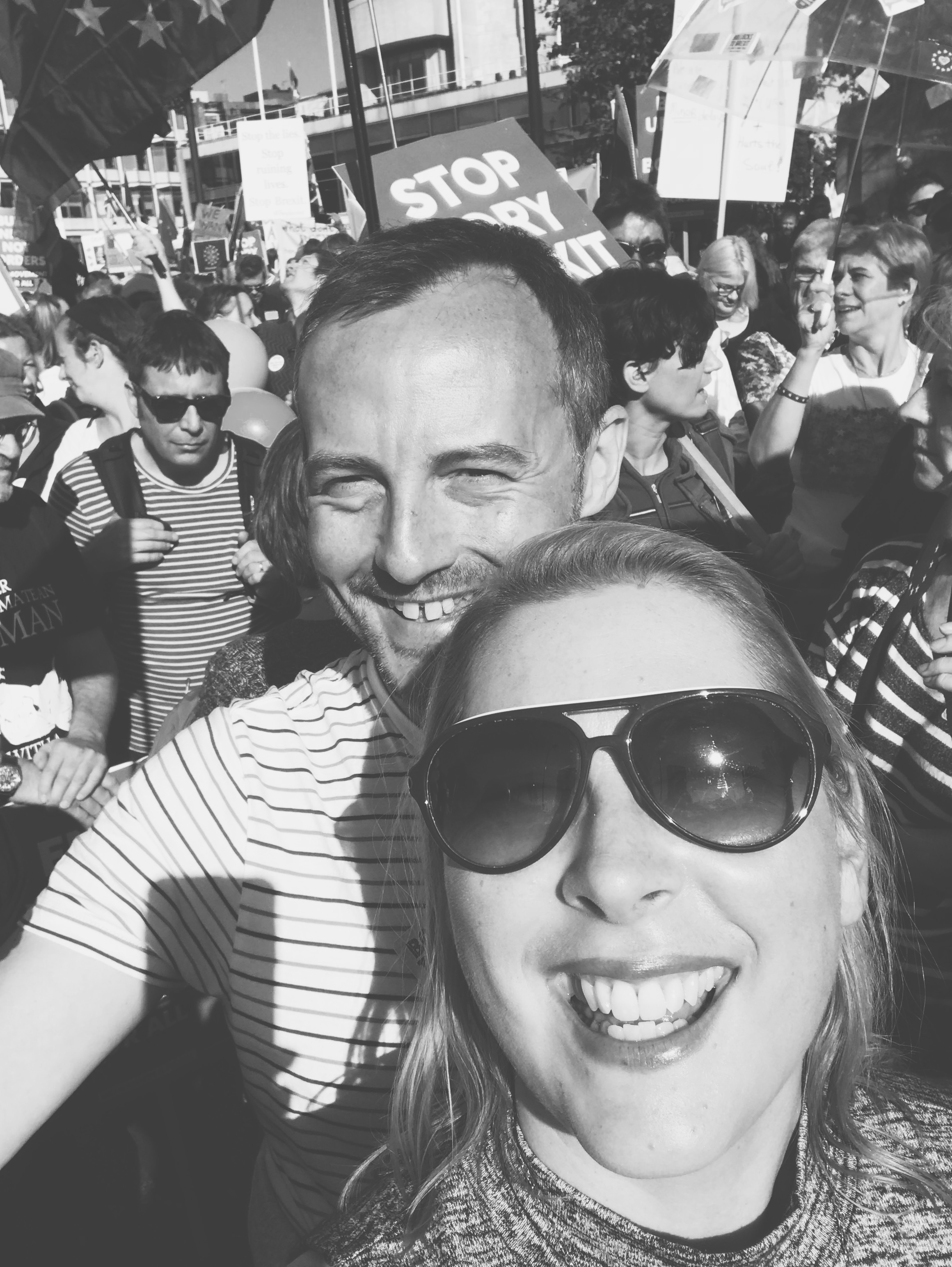 Power to the people. Mark and I at the People's March in October 2018.