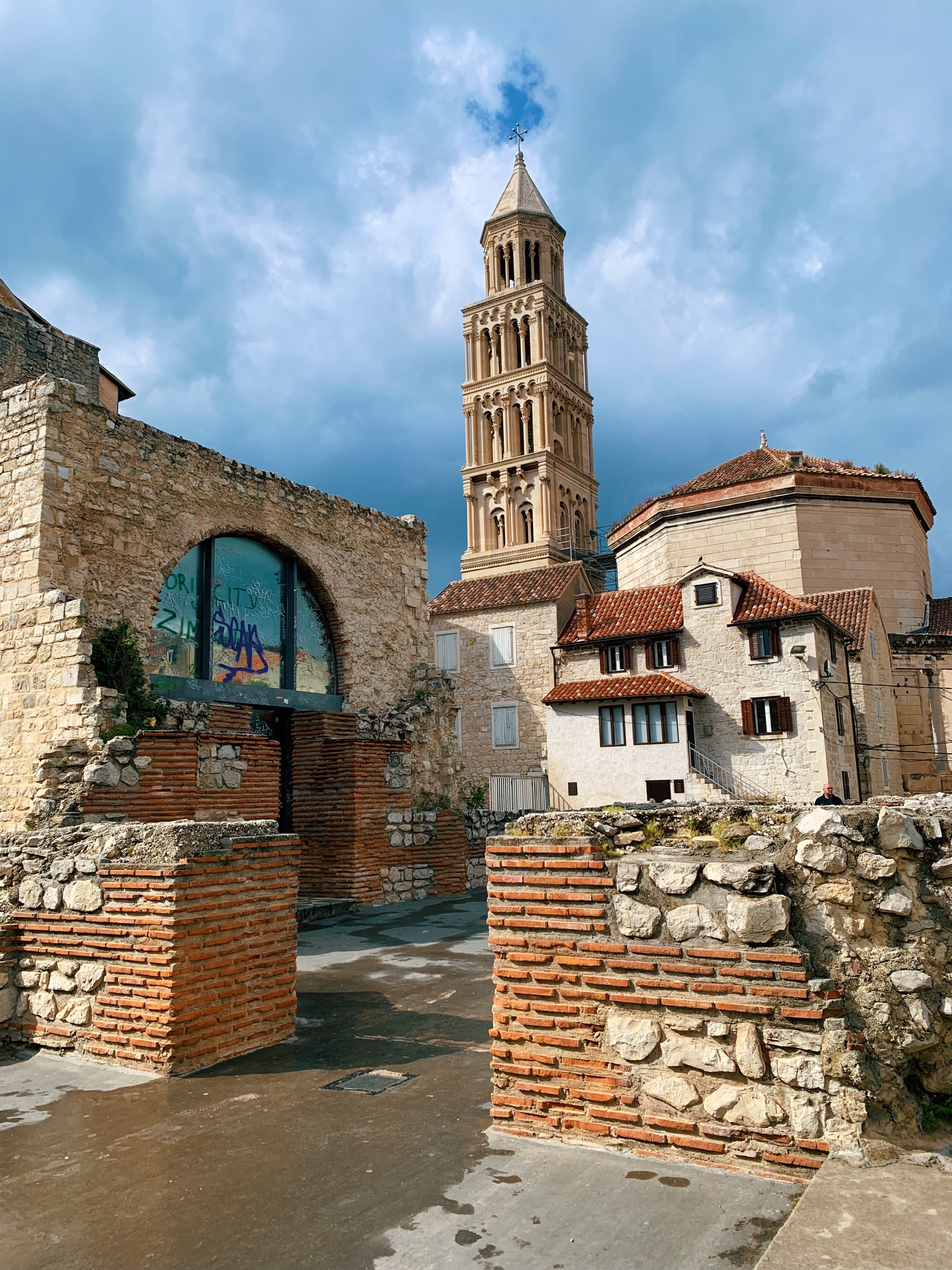 The Roman ruins of Split. The city is essentially the remains of Diocletian's palace.