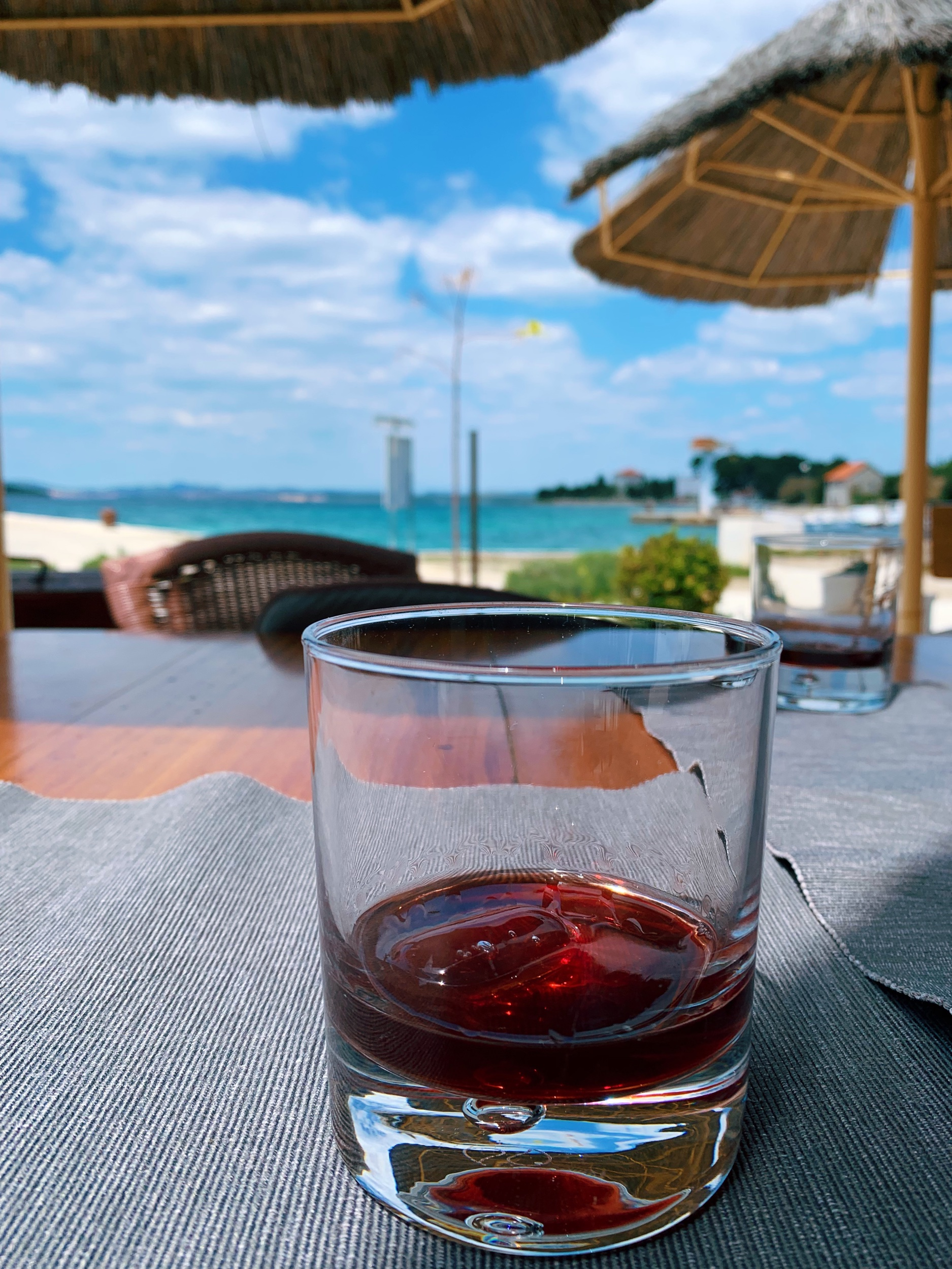 Cherry brandy, our drink of choice on this trip.
