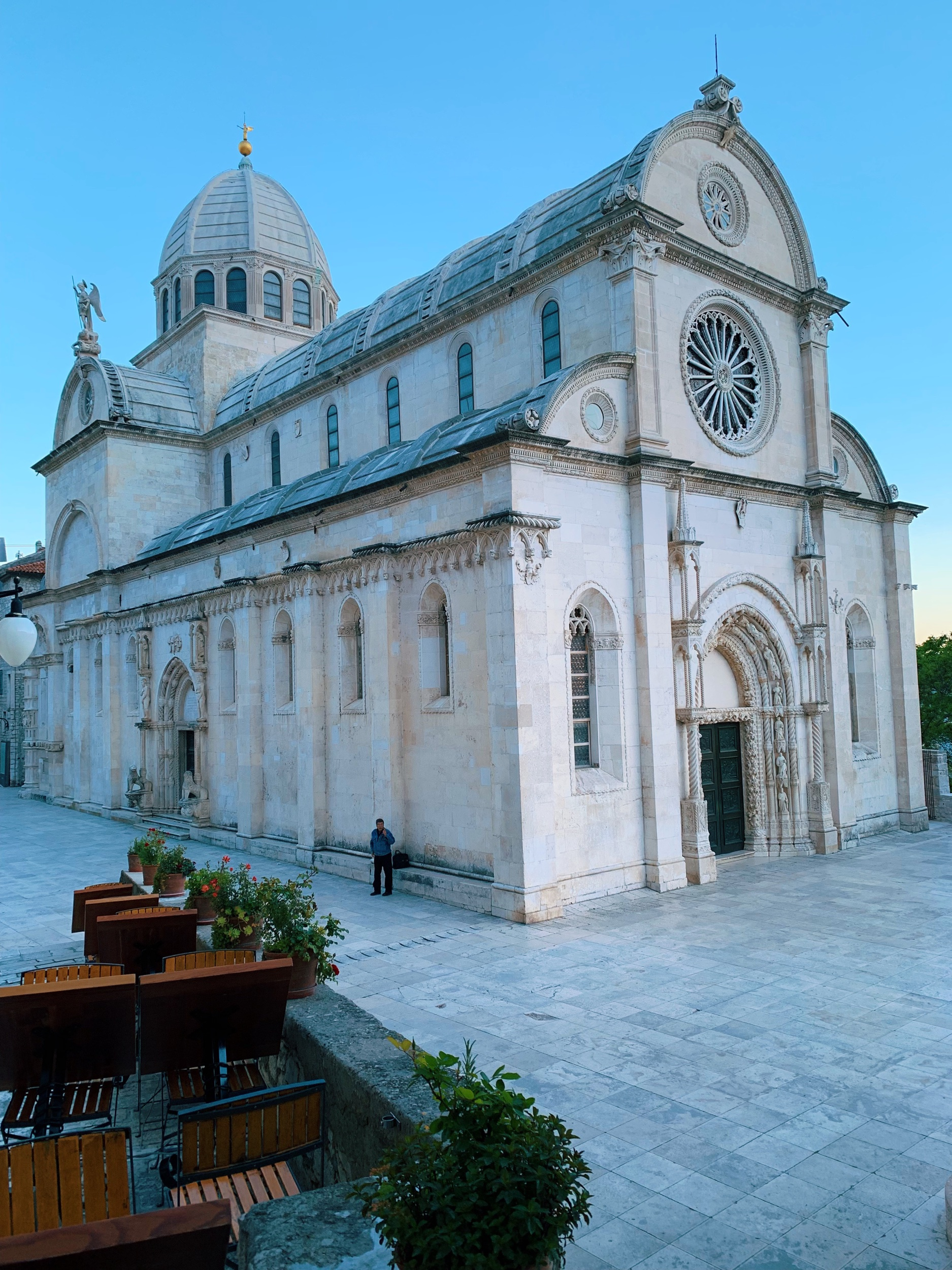 I loved being in  Sibenik  in the off season (May). I never would have thought to stop here had Ashley Colburn not  told me about Sibenik on the podcast . The restaurants are open, the weather is perfect, and there are no crowds :) You can also ferry around the nearby islands.