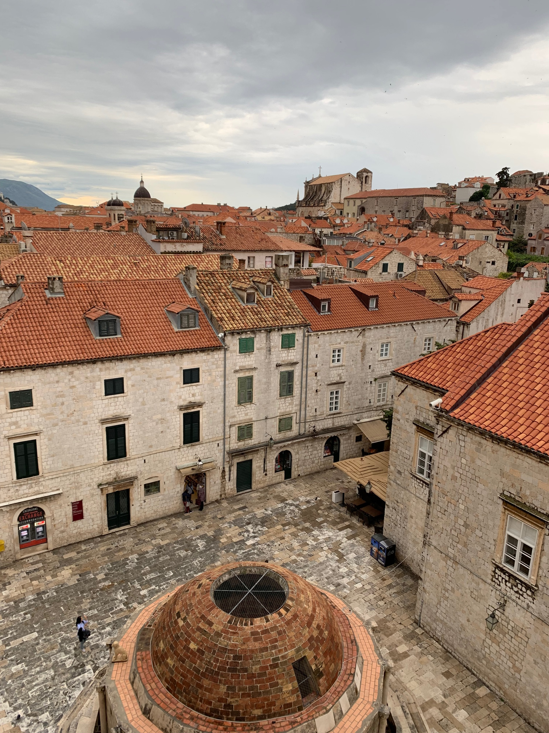 View of Dubrovnik's Old Town from on top of the fortified wall. Give yourself two hours to walk around it calmly and enjoy the panorama.