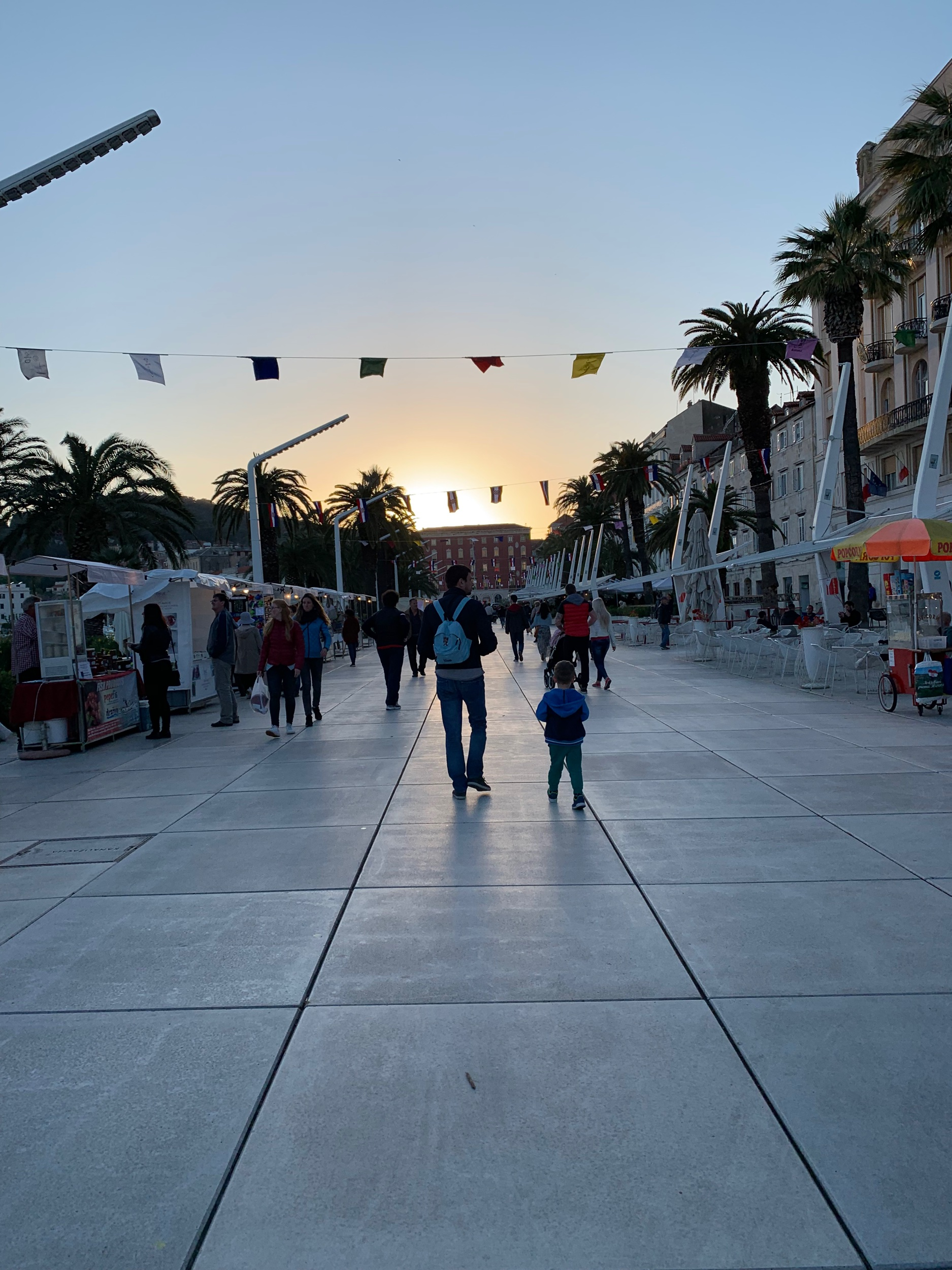 Split's great promenade by the sea and a great place to buy souvenirs. I purchased a wallet here that I loved a little too much. Someone stole it while I was taking a ferry from Albania to Italy. I dream about it still and think about returning to Split soon just to buy a new one.