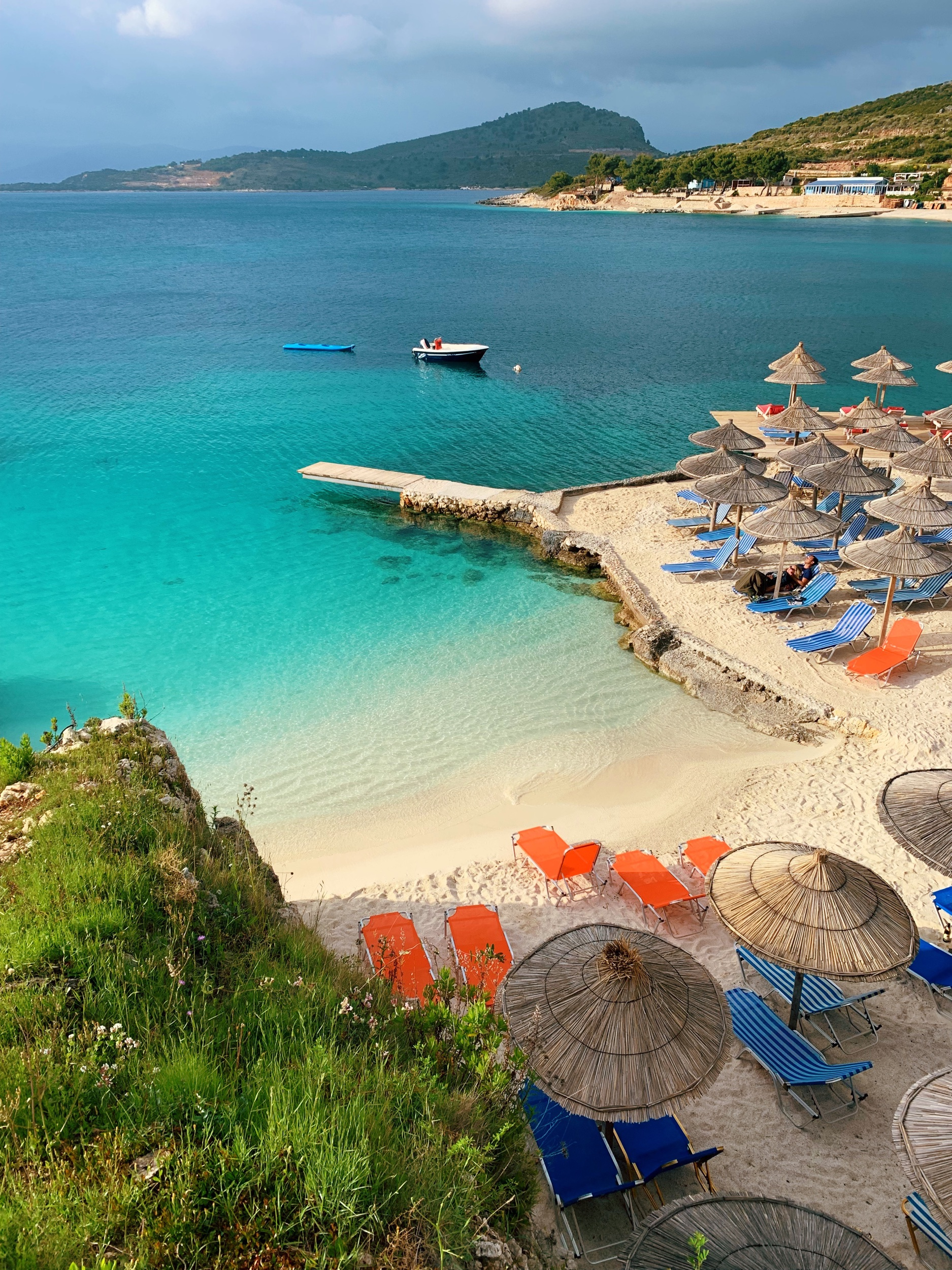 Yes, this is Albania. Ksamil beach to be exact.