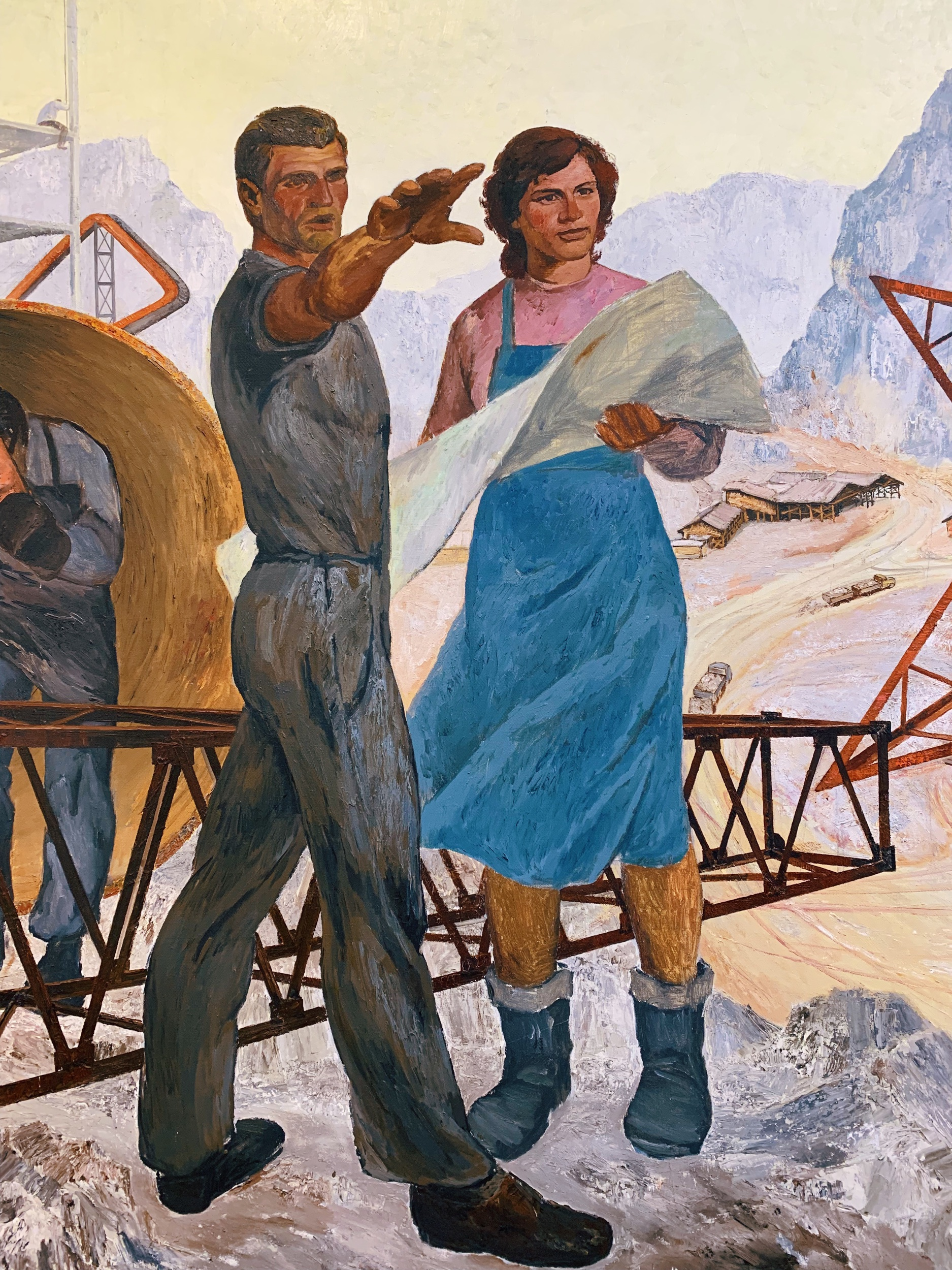 During Communist times, the 'ideal man' was one of the main propaganda art themes.